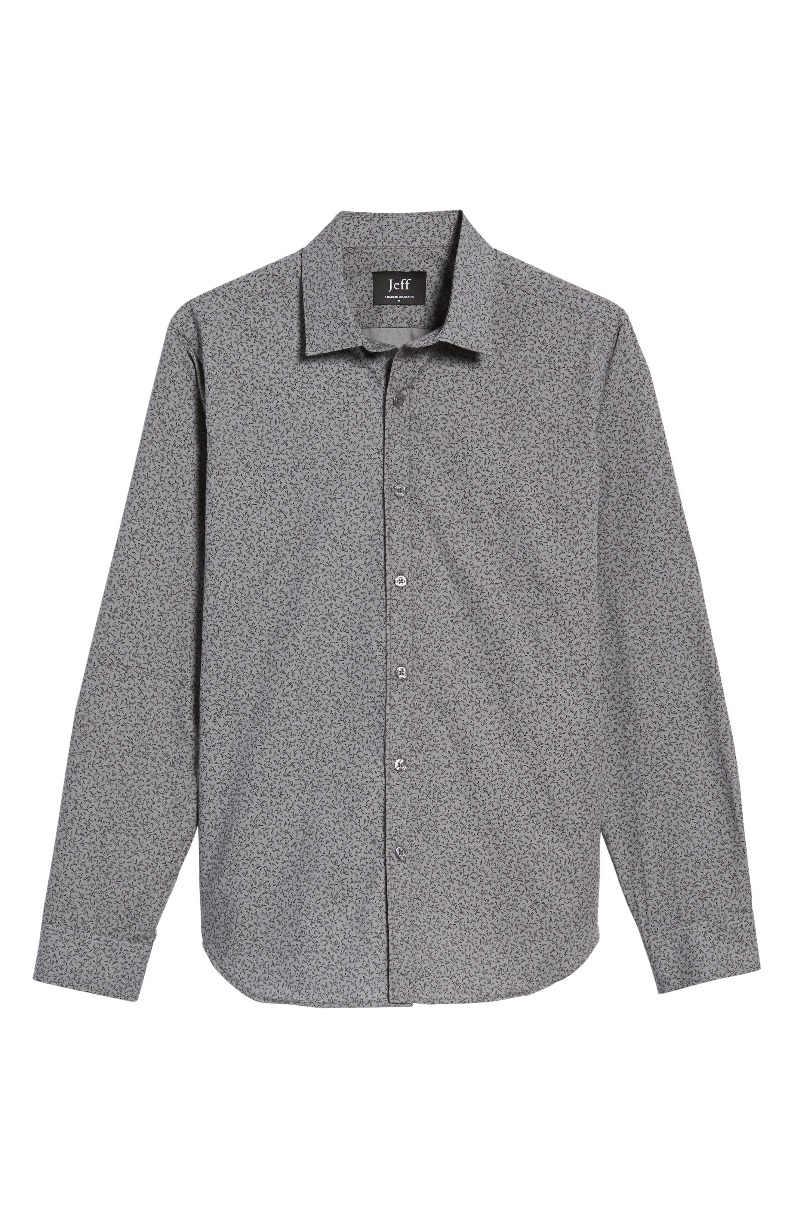 Slim Fit Print Sport Shirt,                             Alternate thumbnail 6, color,