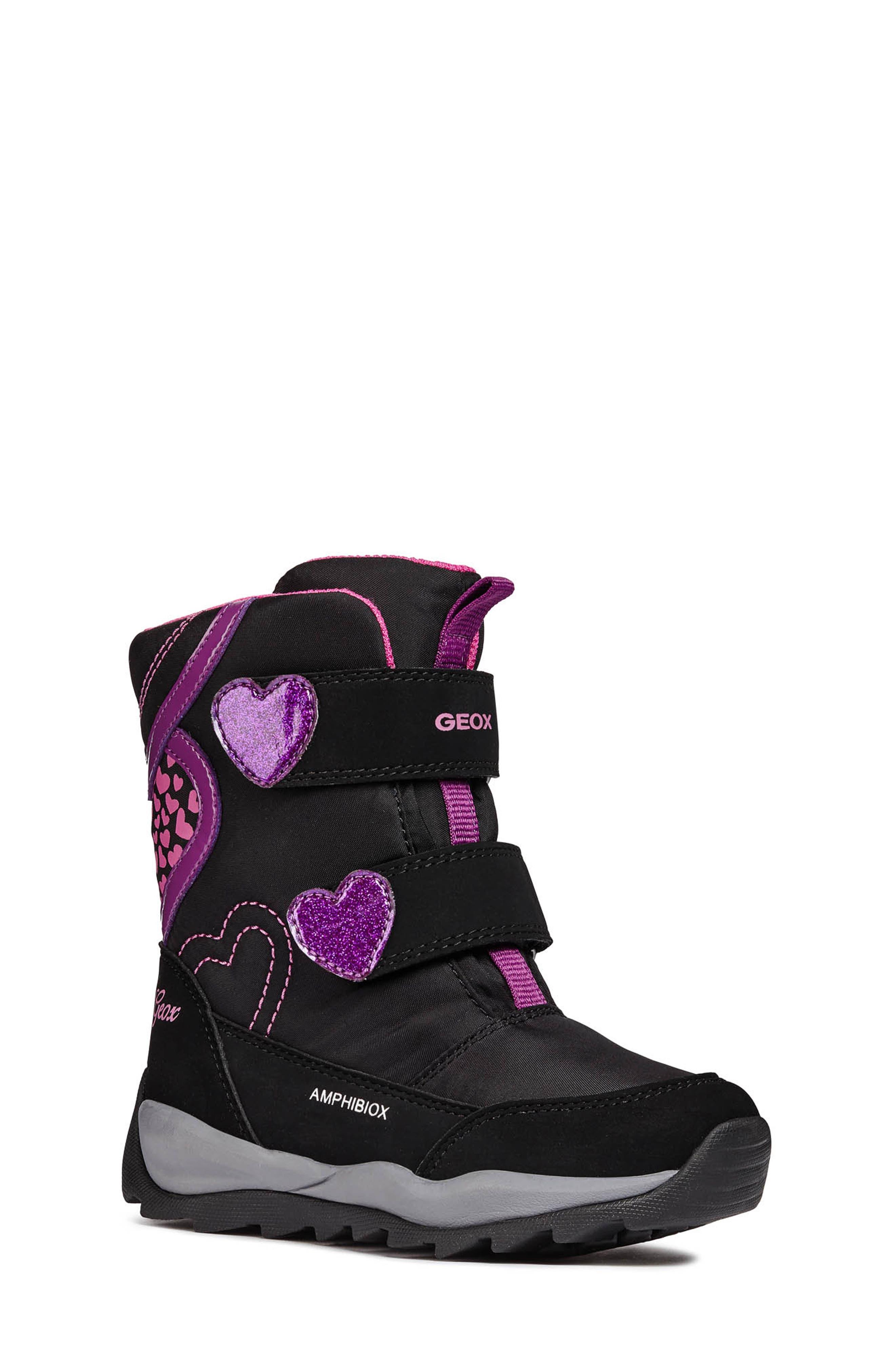 Orizont ABX Waterproof Boot,                         Main,                         color, BLACK/FUCHSIA