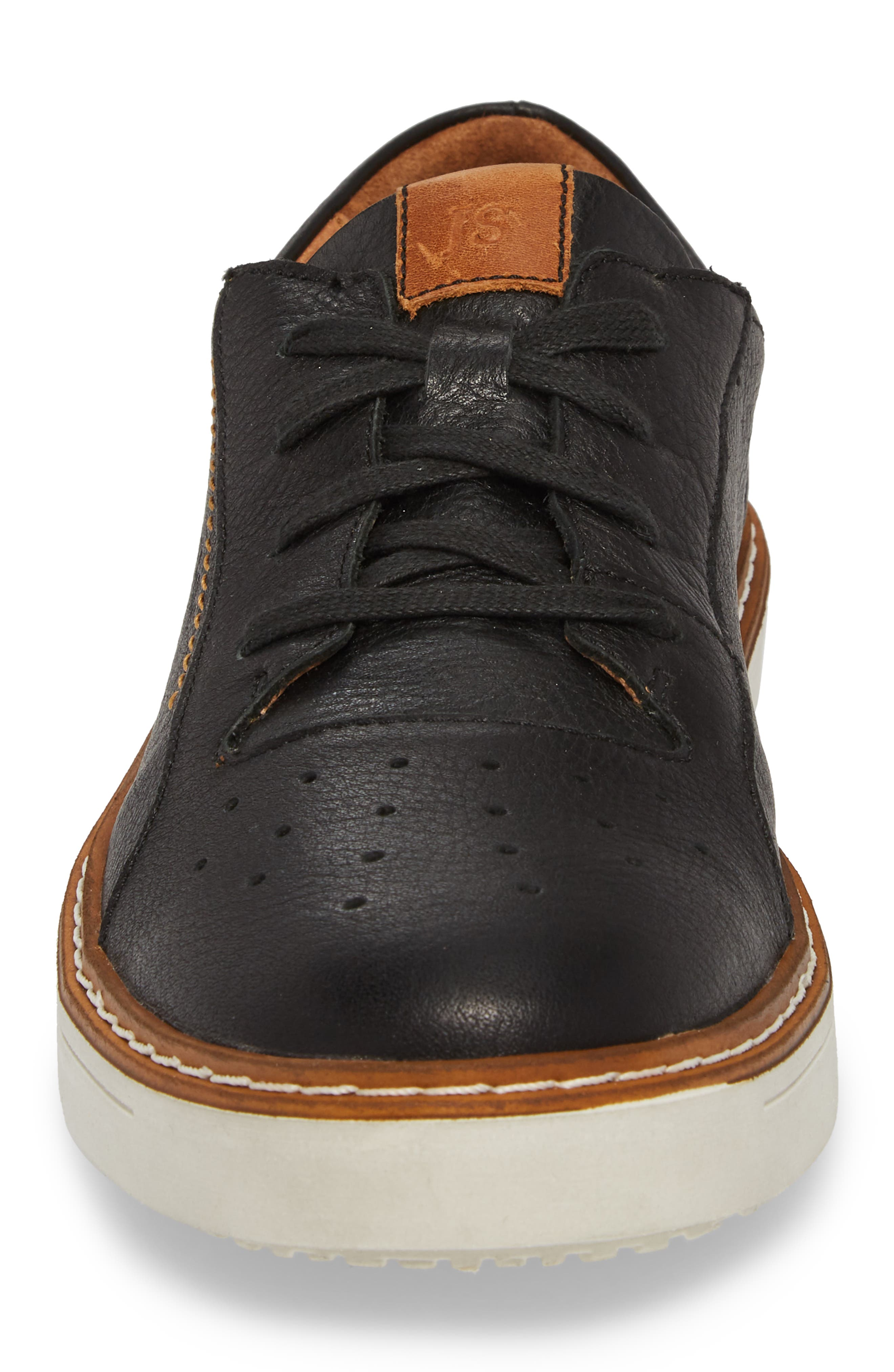 Quentin 03 Low Top Sneaker,                             Alternate thumbnail 4, color,                             BLACK KOMBI LEATHER