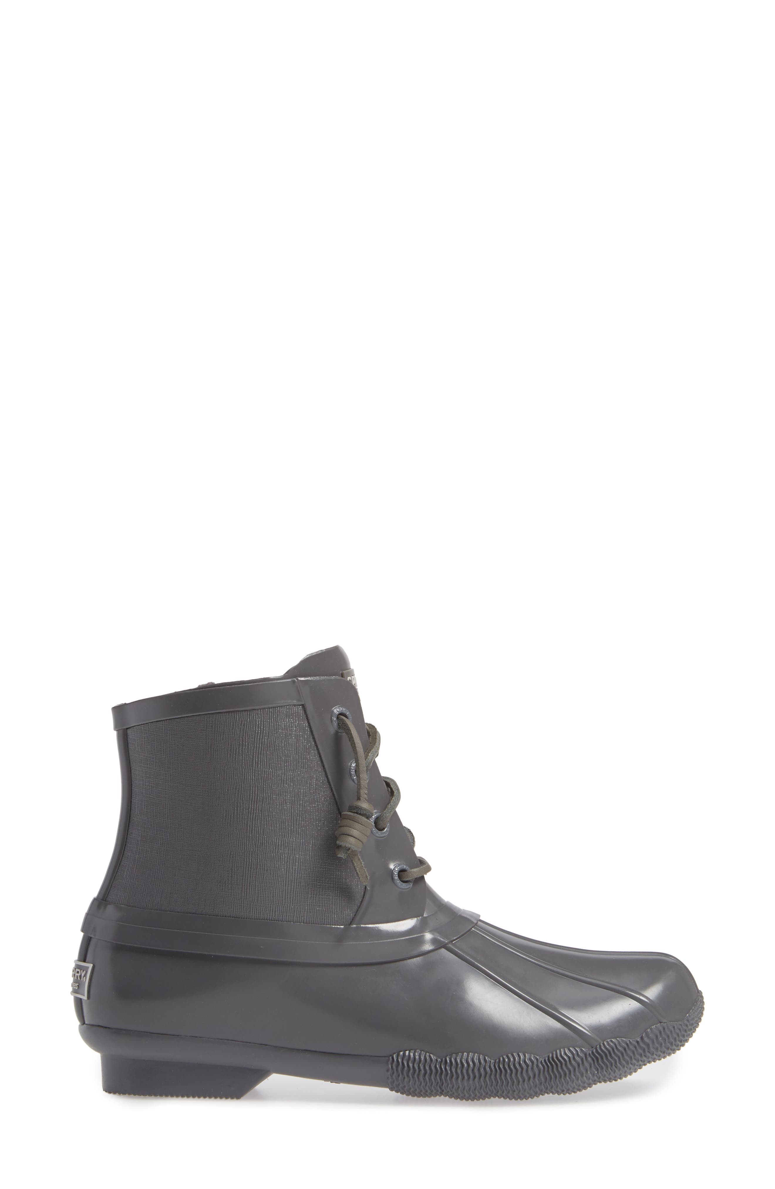 Flooded Rubber Saltwater Bootie,                             Alternate thumbnail 3, color,                             GREY