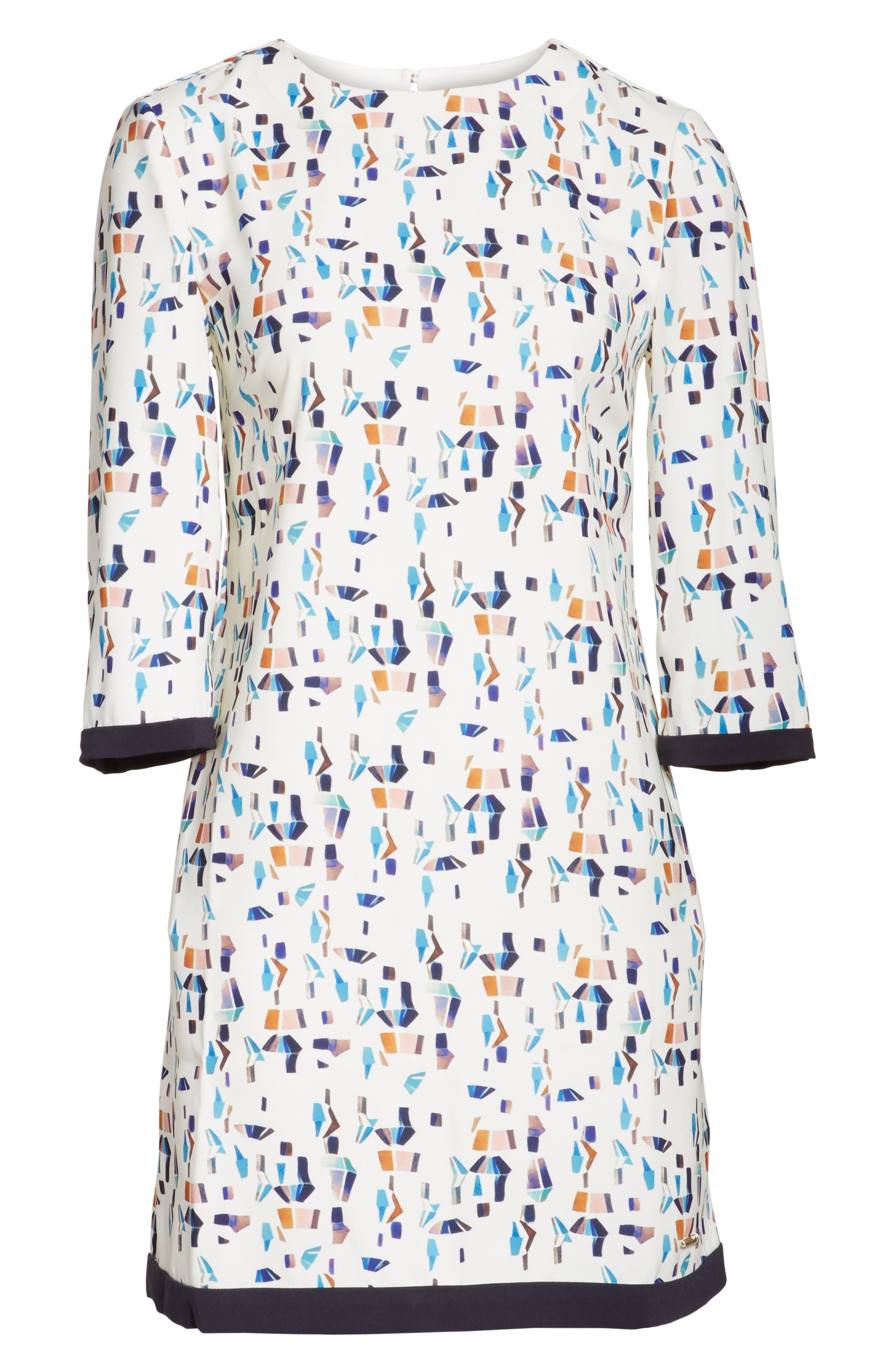 Limina Print Shift Dress,                             Alternate thumbnail 6, color,                             900