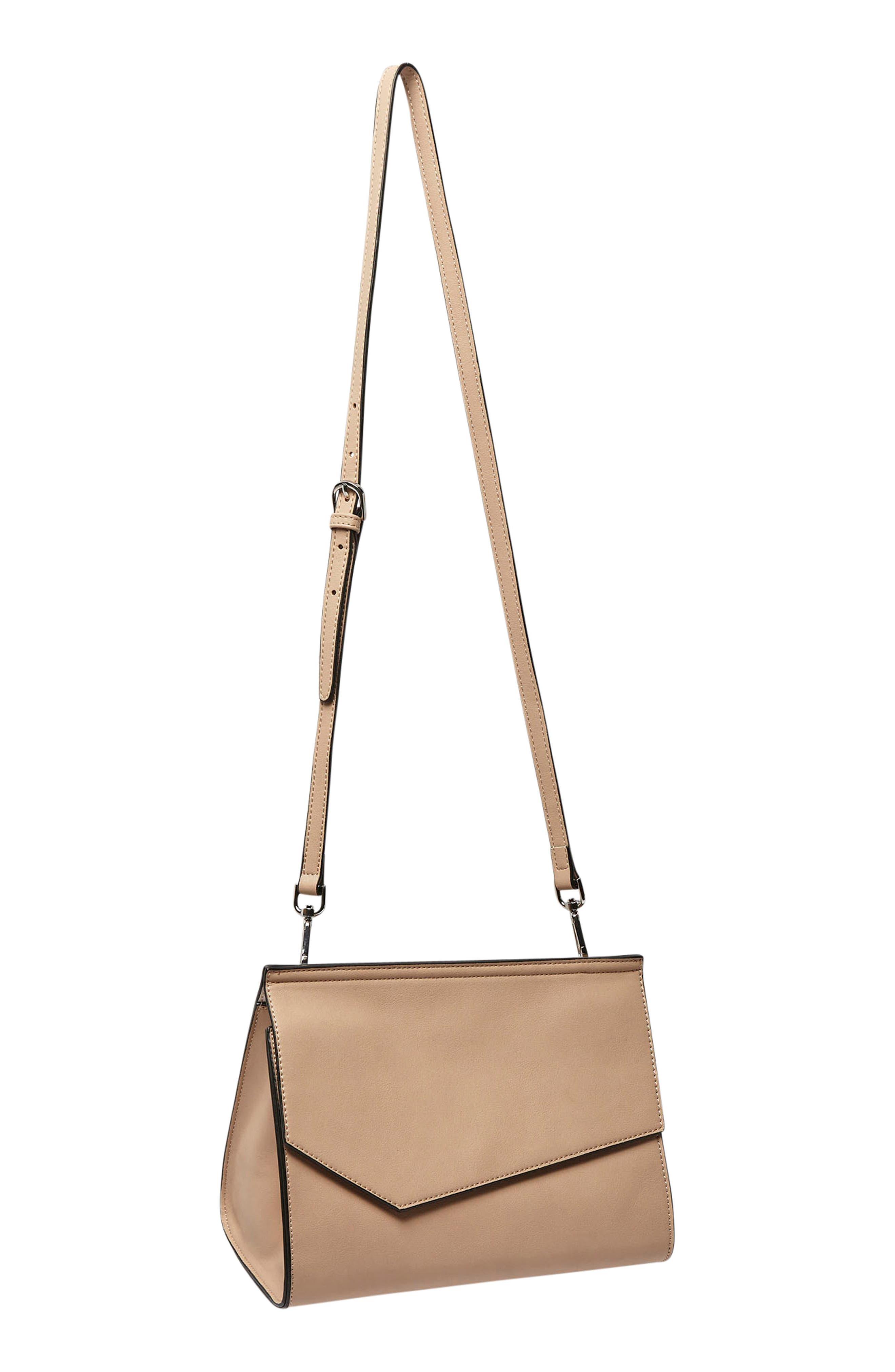 Shimmer Vegan Leather Shoulder Bag,                             Alternate thumbnail 6, color,