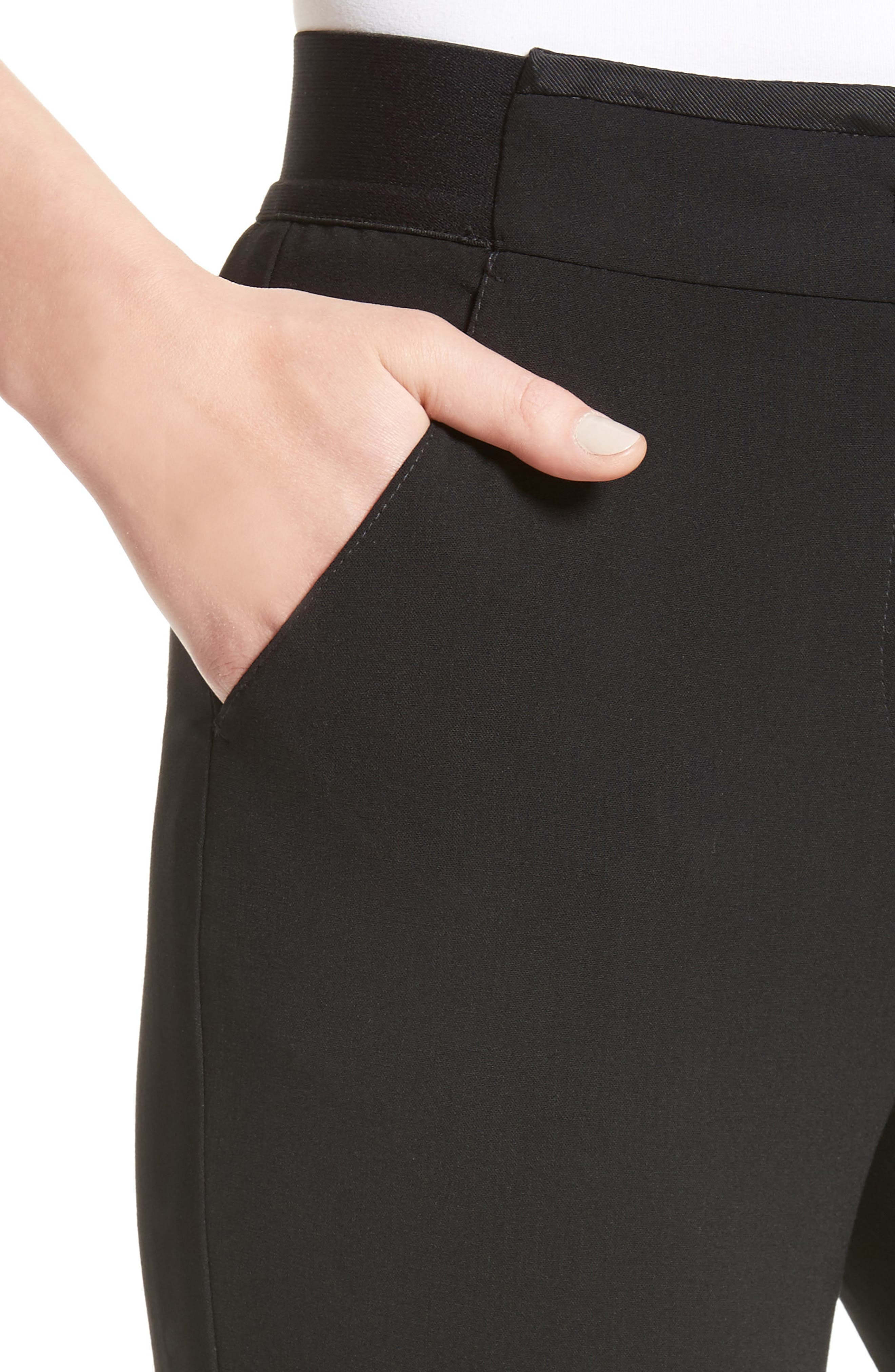 Stretch Wool Pants,                             Alternate thumbnail 4, color,                             004