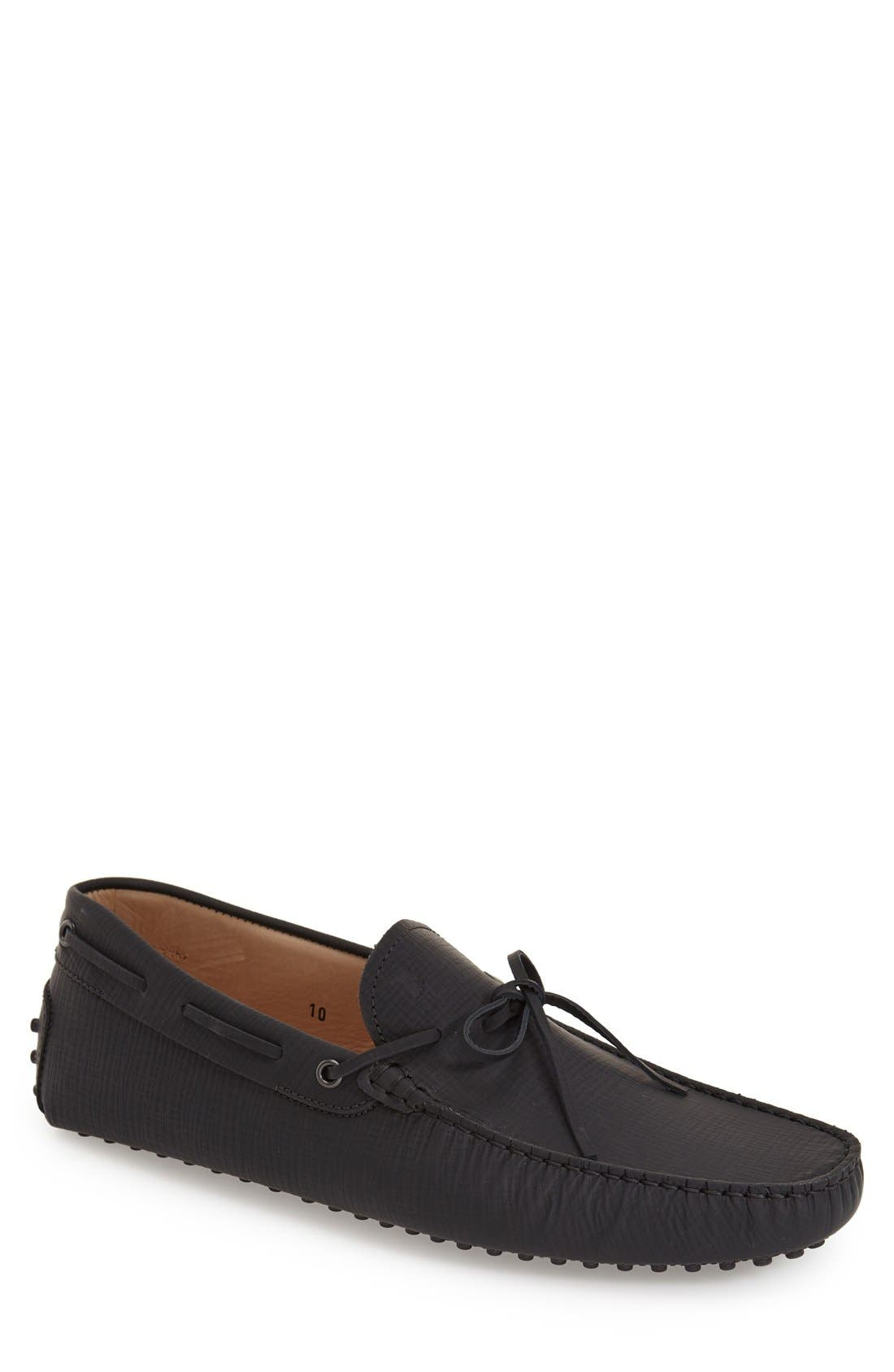 Gommini Tie Front Driving Moccasin,                             Main thumbnail 1, color,