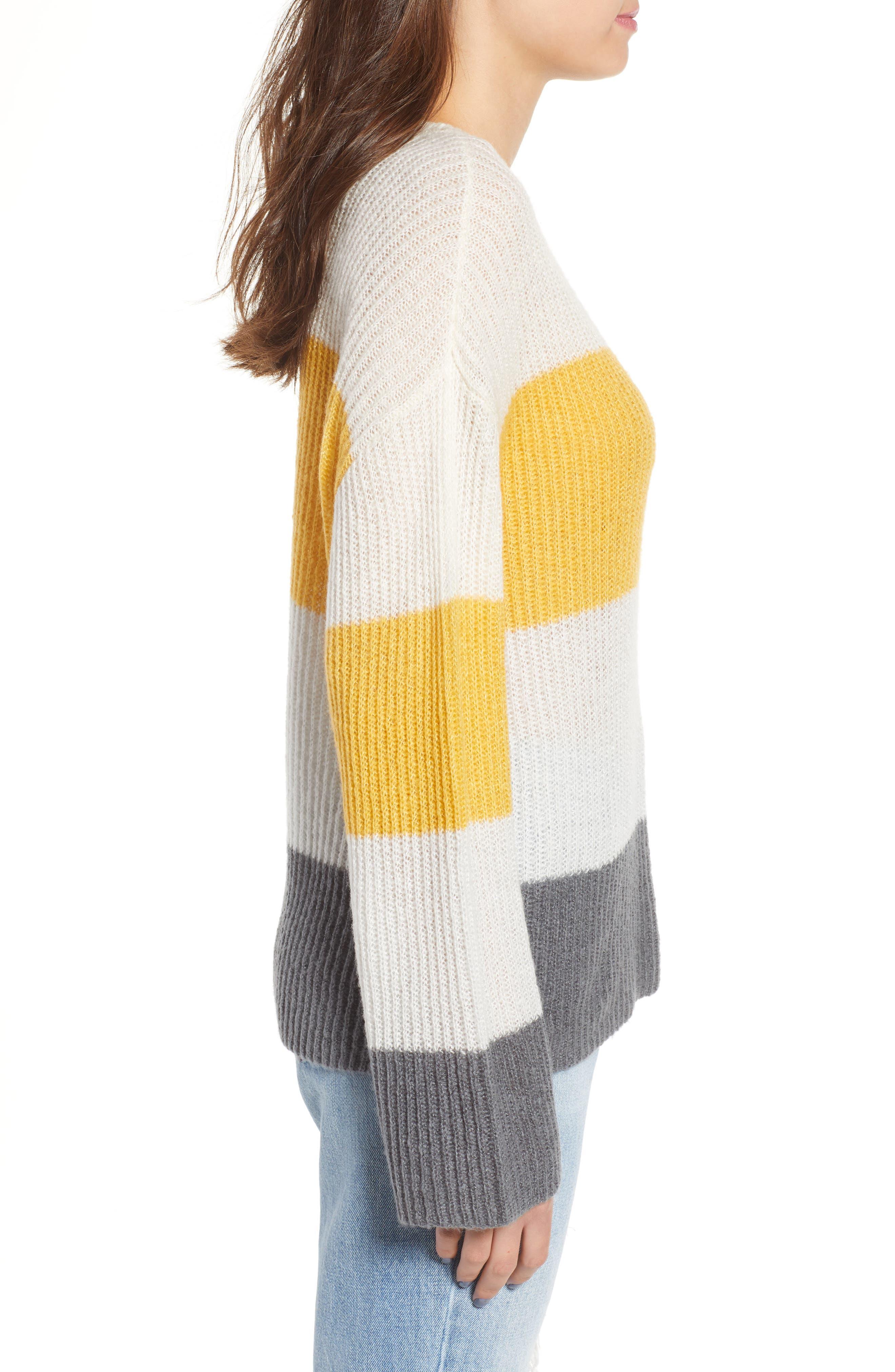 Stripe Pullover,                             Alternate thumbnail 3, color,                             900