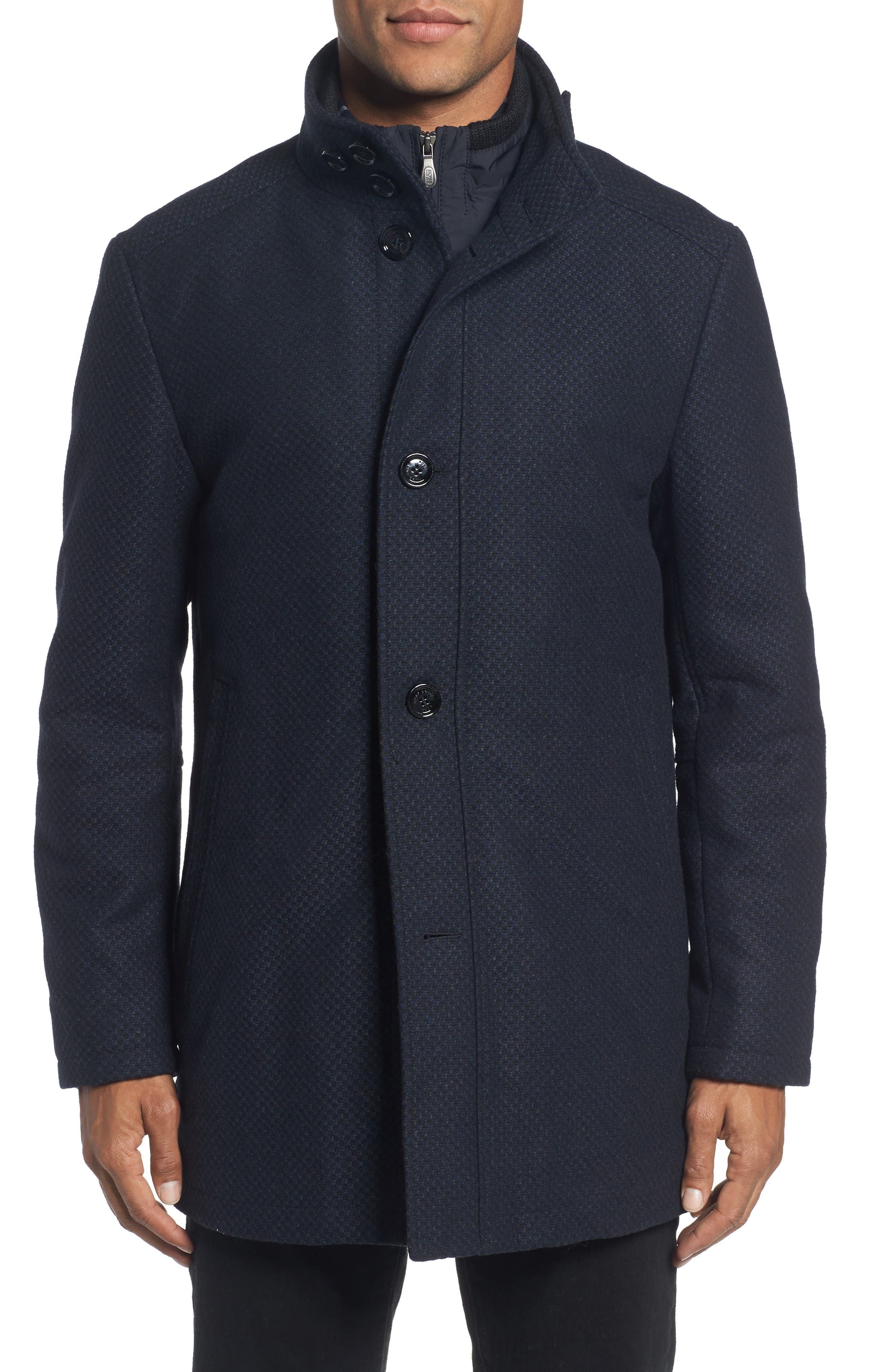 BOSS C-Coxtan Wool Blend Coat with Insert,                             Alternate thumbnail 8, color,
