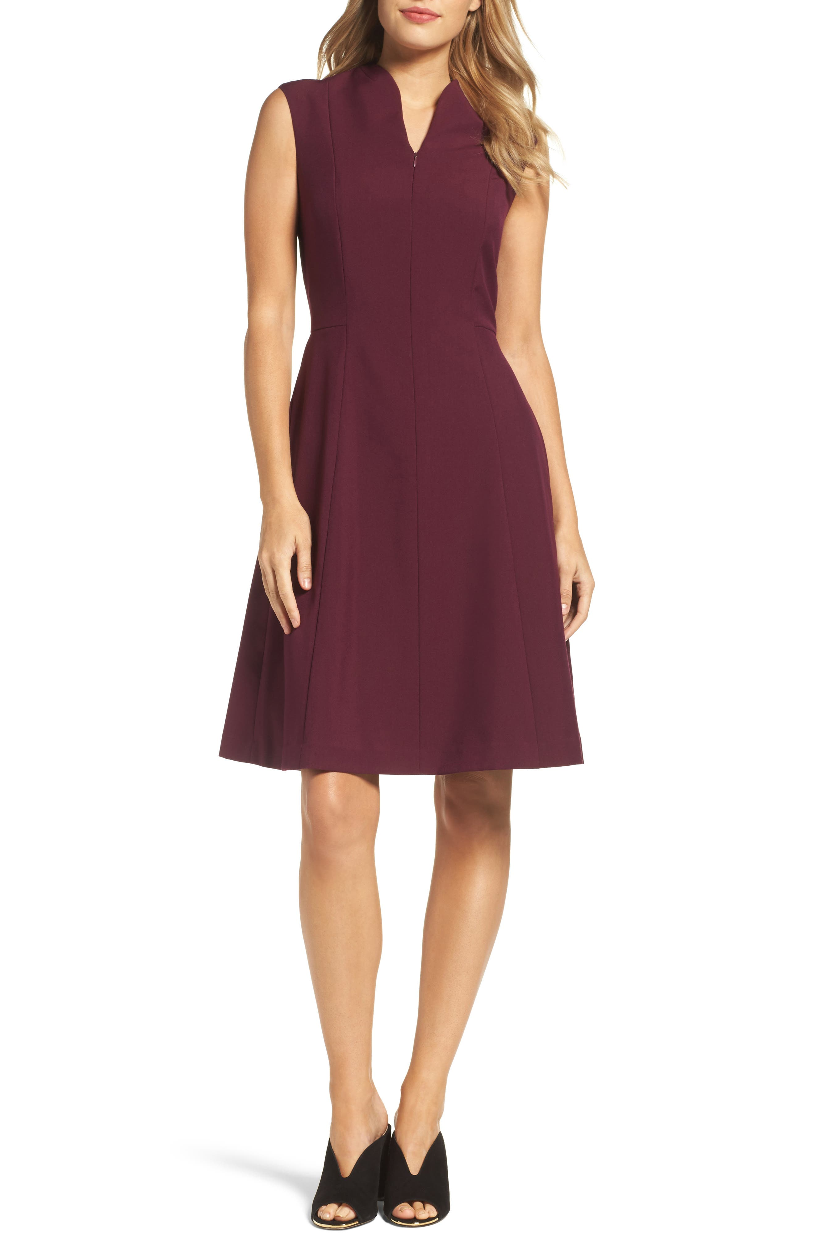 Fit & Flare Dress,                             Main thumbnail 1, color,