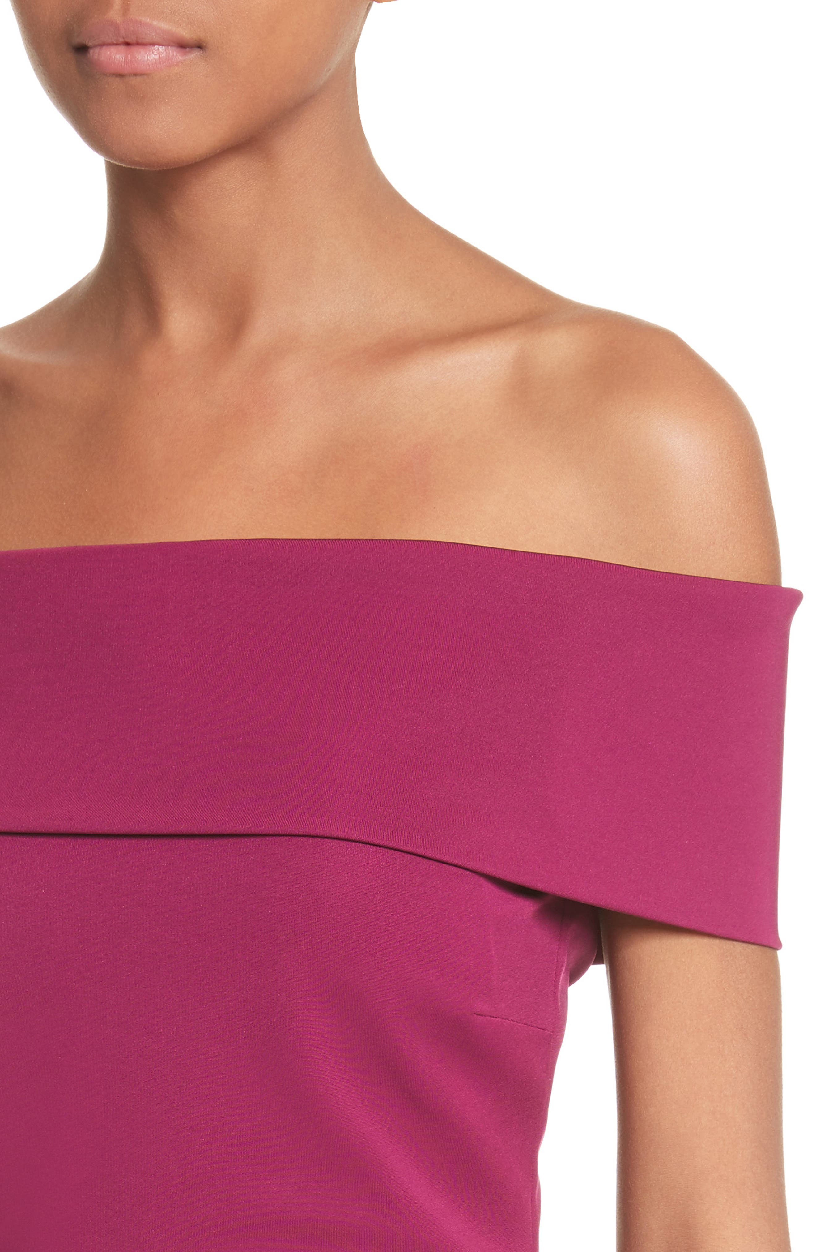 Off the Shoulder Pencil Dress,                             Alternate thumbnail 4, color,                             543