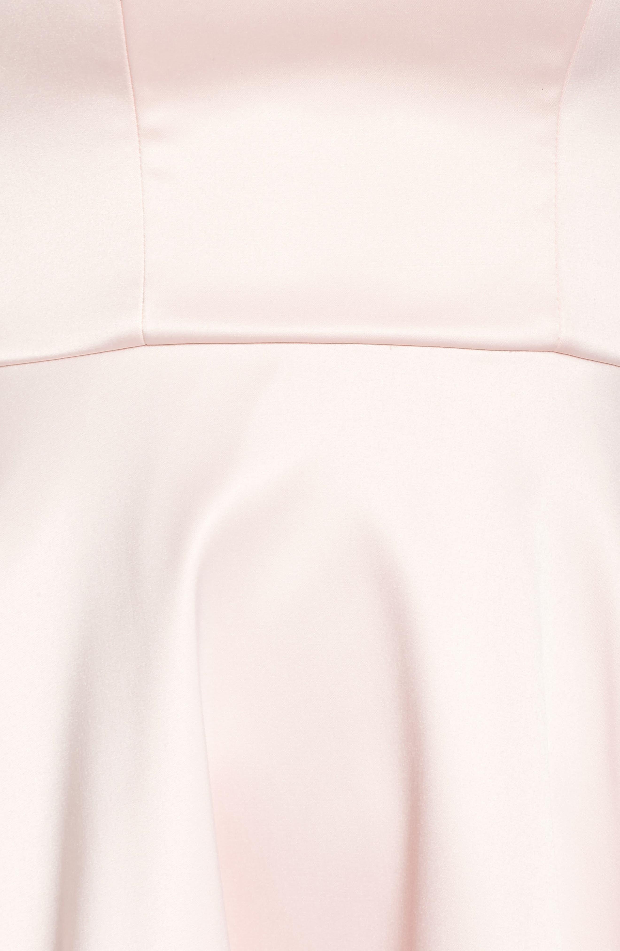 Off the Shoulder Satin Dress,                             Alternate thumbnail 5, color,