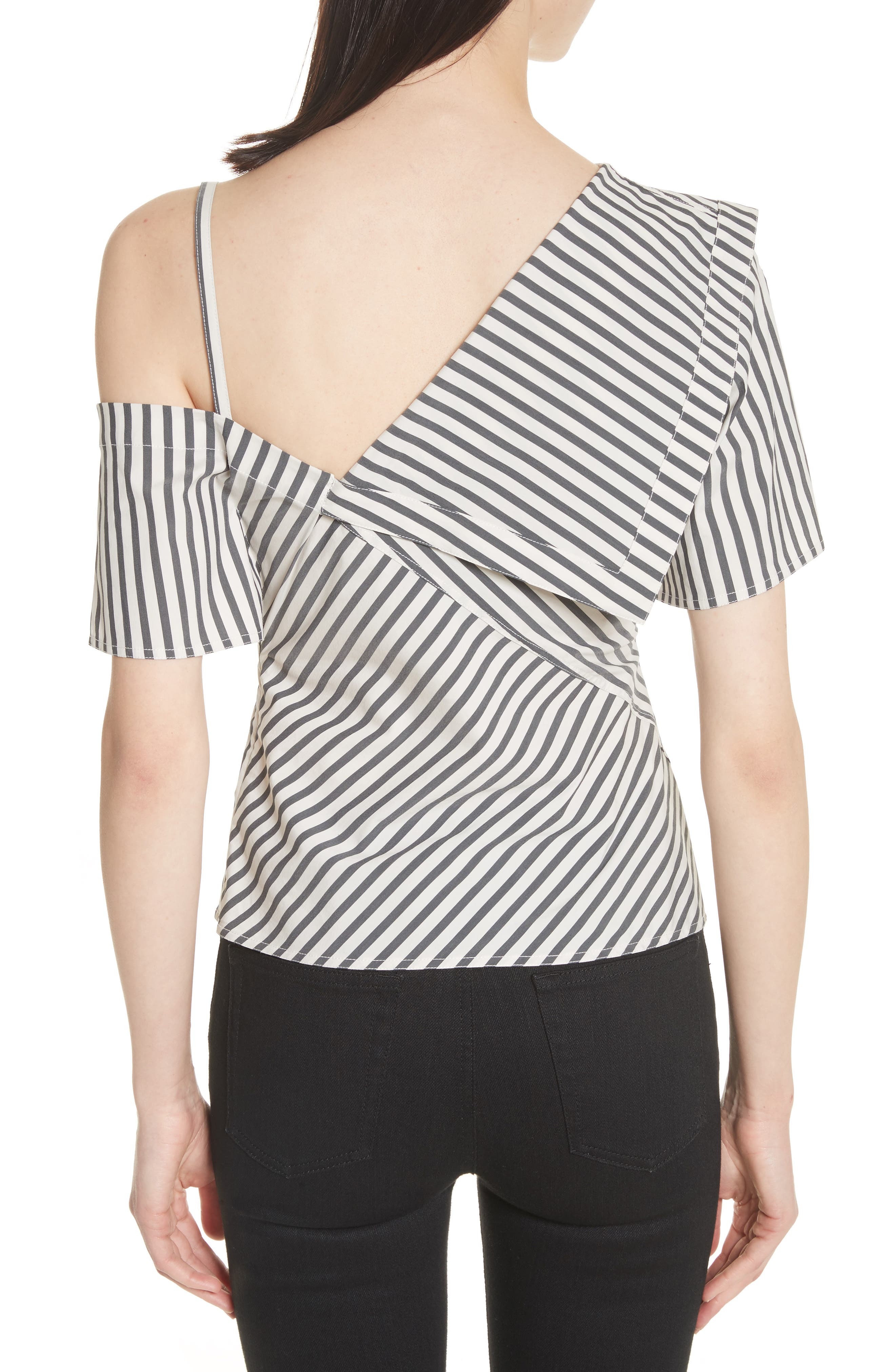 Brys Stripe Foldover Top,                             Alternate thumbnail 2, color,                             002