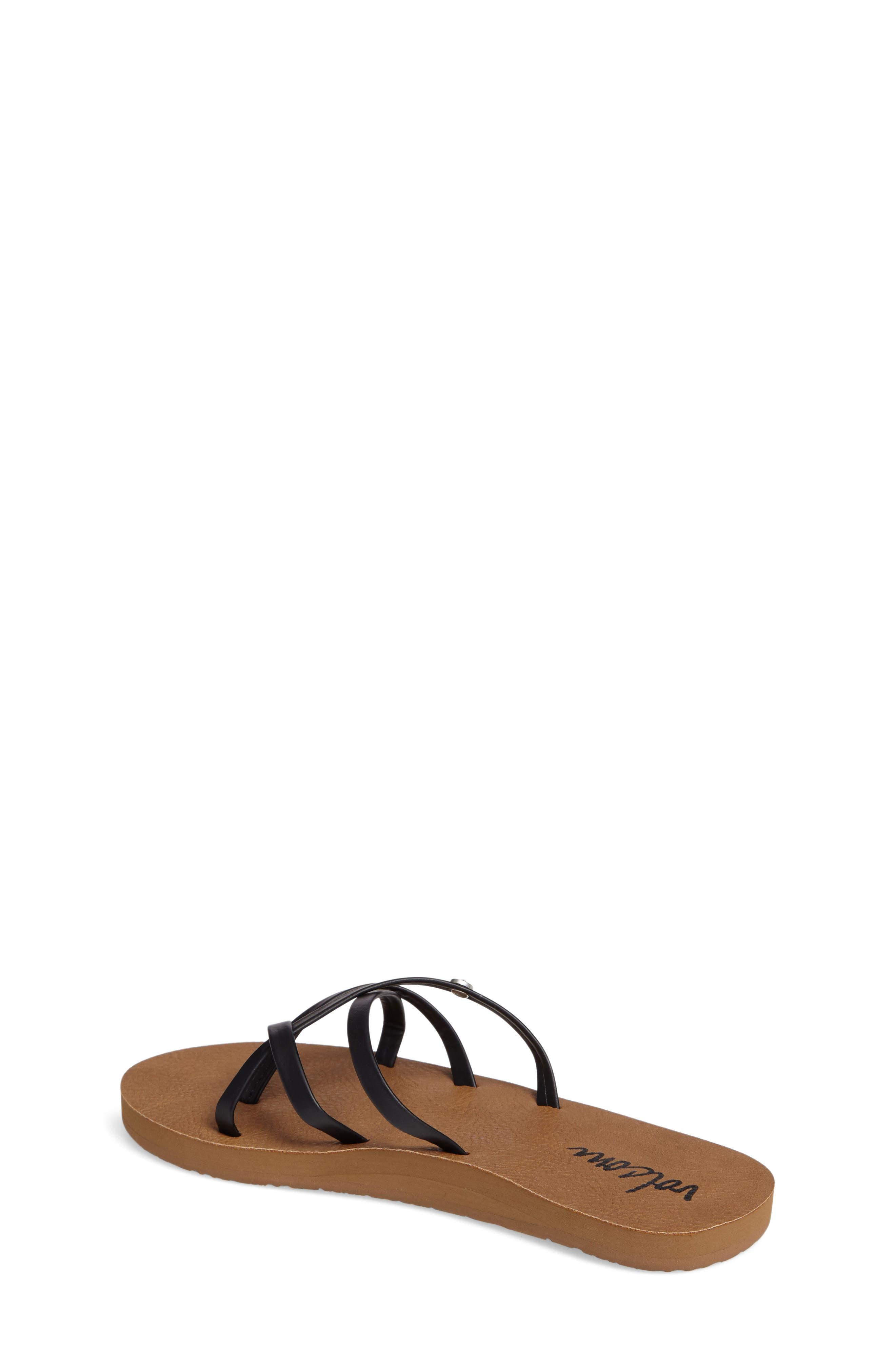 New School Flip Flop,                             Alternate thumbnail 2, color,                             BLACK