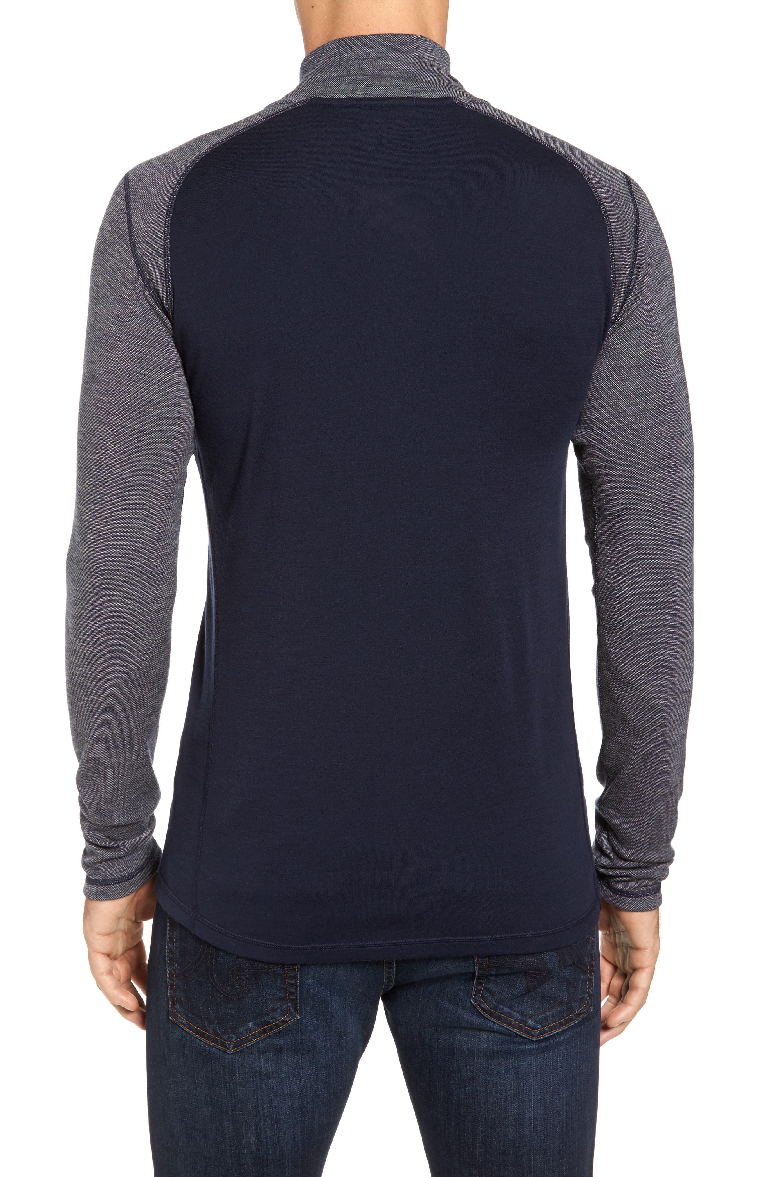 Merino 250 Base Layer Pattern Quarter Zip Pullover,                             Alternate thumbnail 2, color,                             410