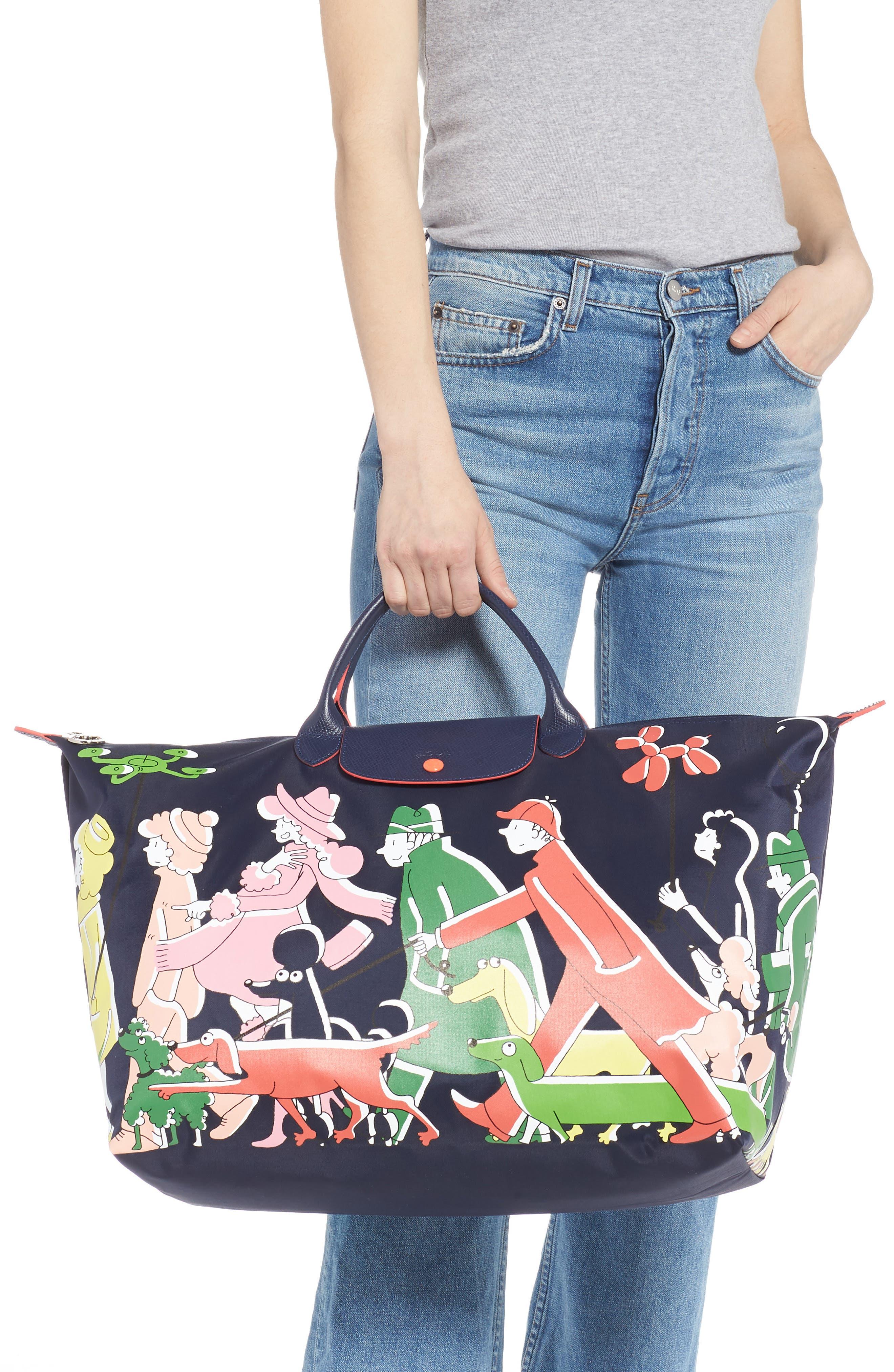 x Clo'e Floirat Le Pliage Illustration Travel Bag,                             Alternate thumbnail 2, color,                             MULTICOLOR