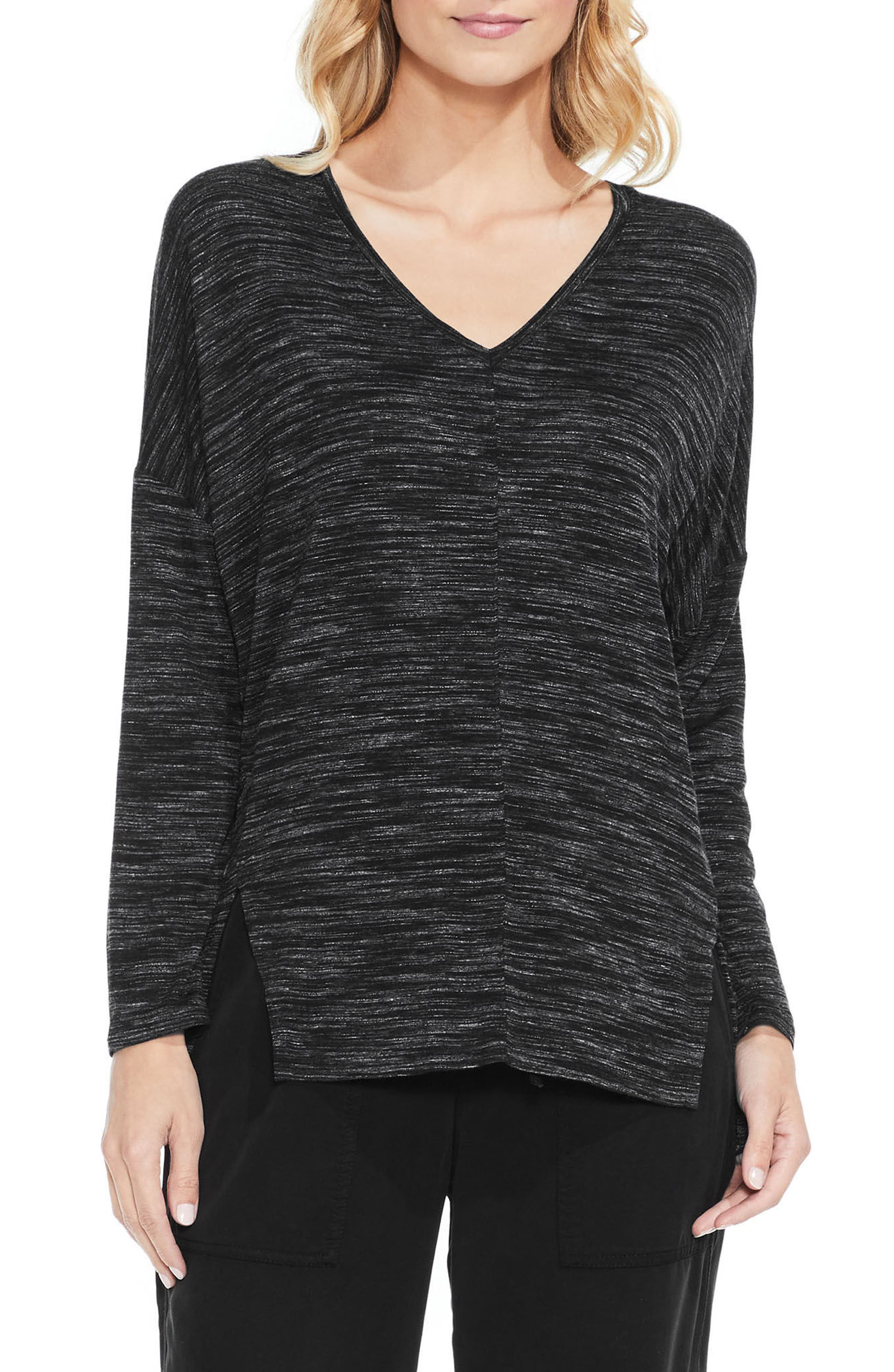 Space Dyed V-Neck Top,                             Main thumbnail 1, color,                             006