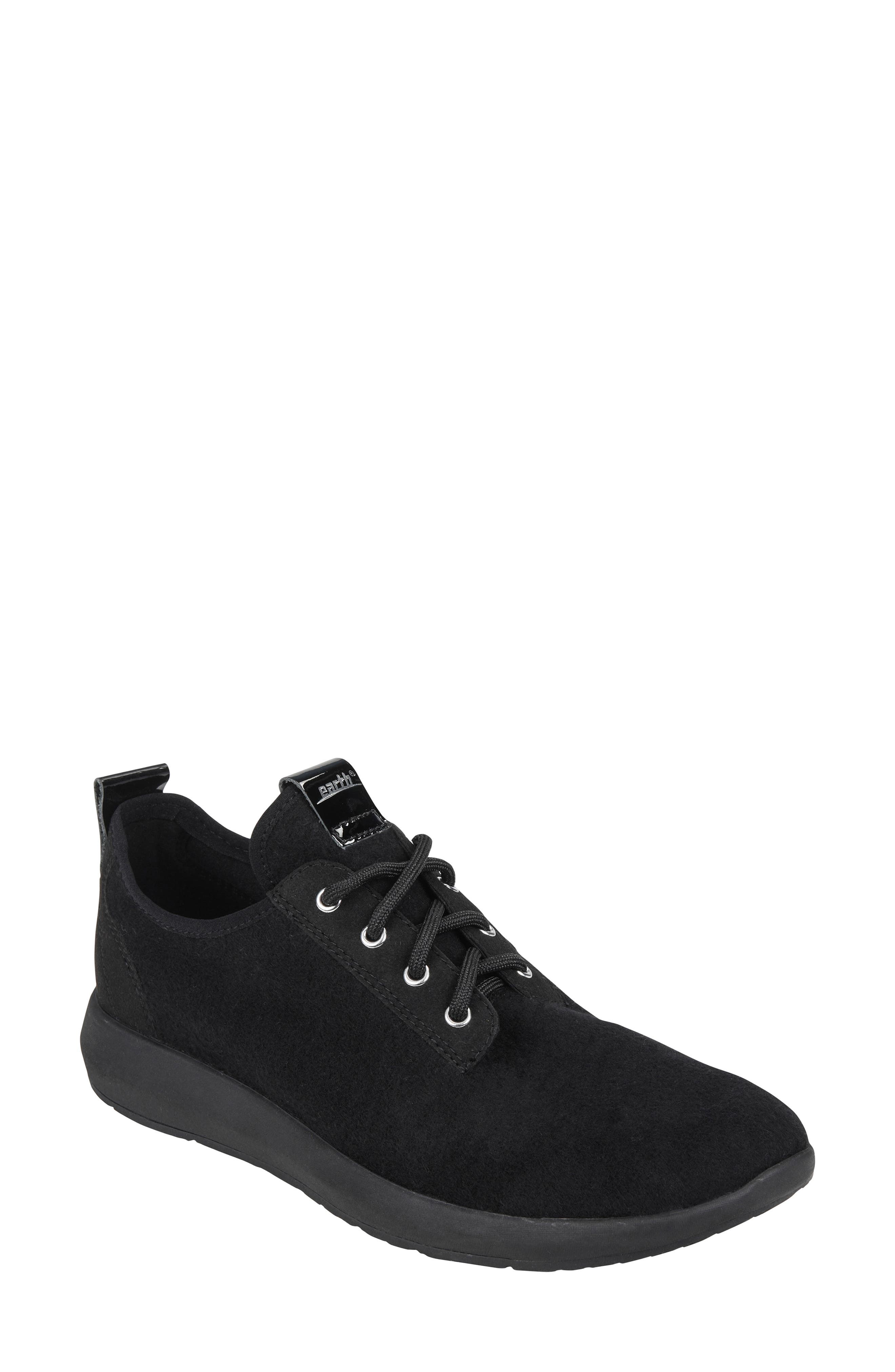Boomer Sneaker,                         Main,                         color, BLACK FABRIC