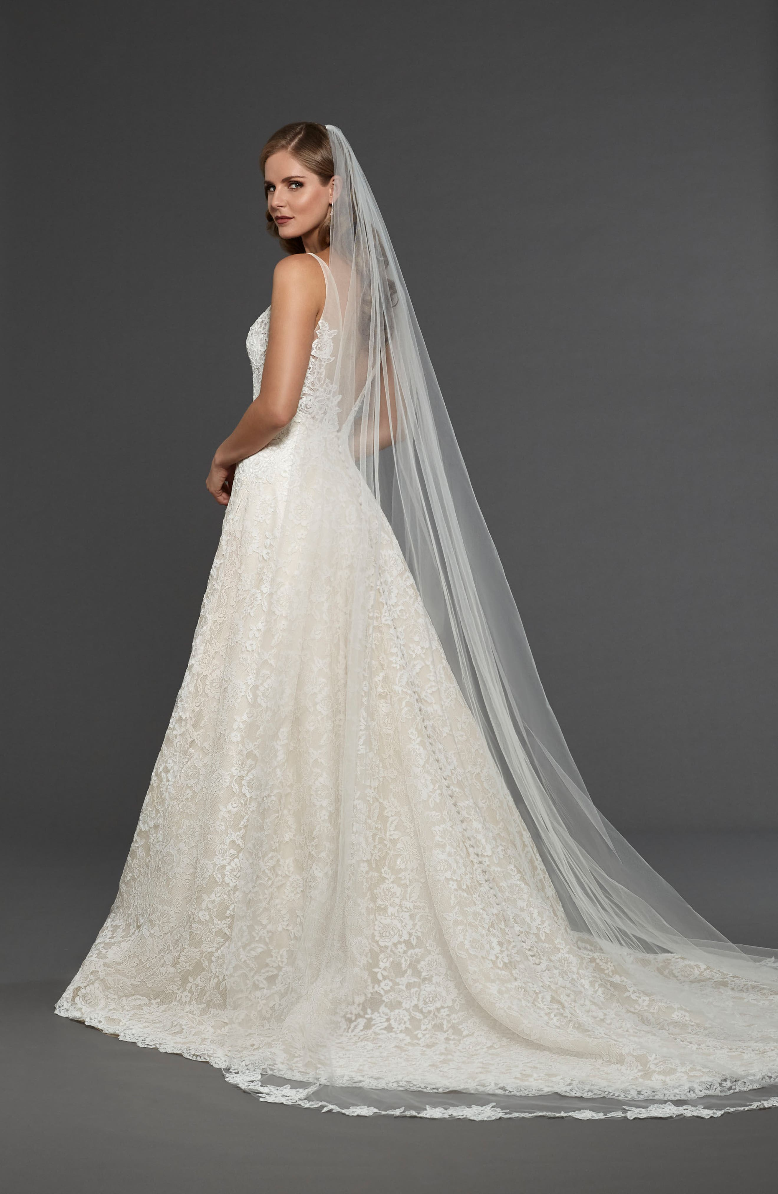 Suzanna Allover Lace Gown,                             Alternate thumbnail 5, color,                             900