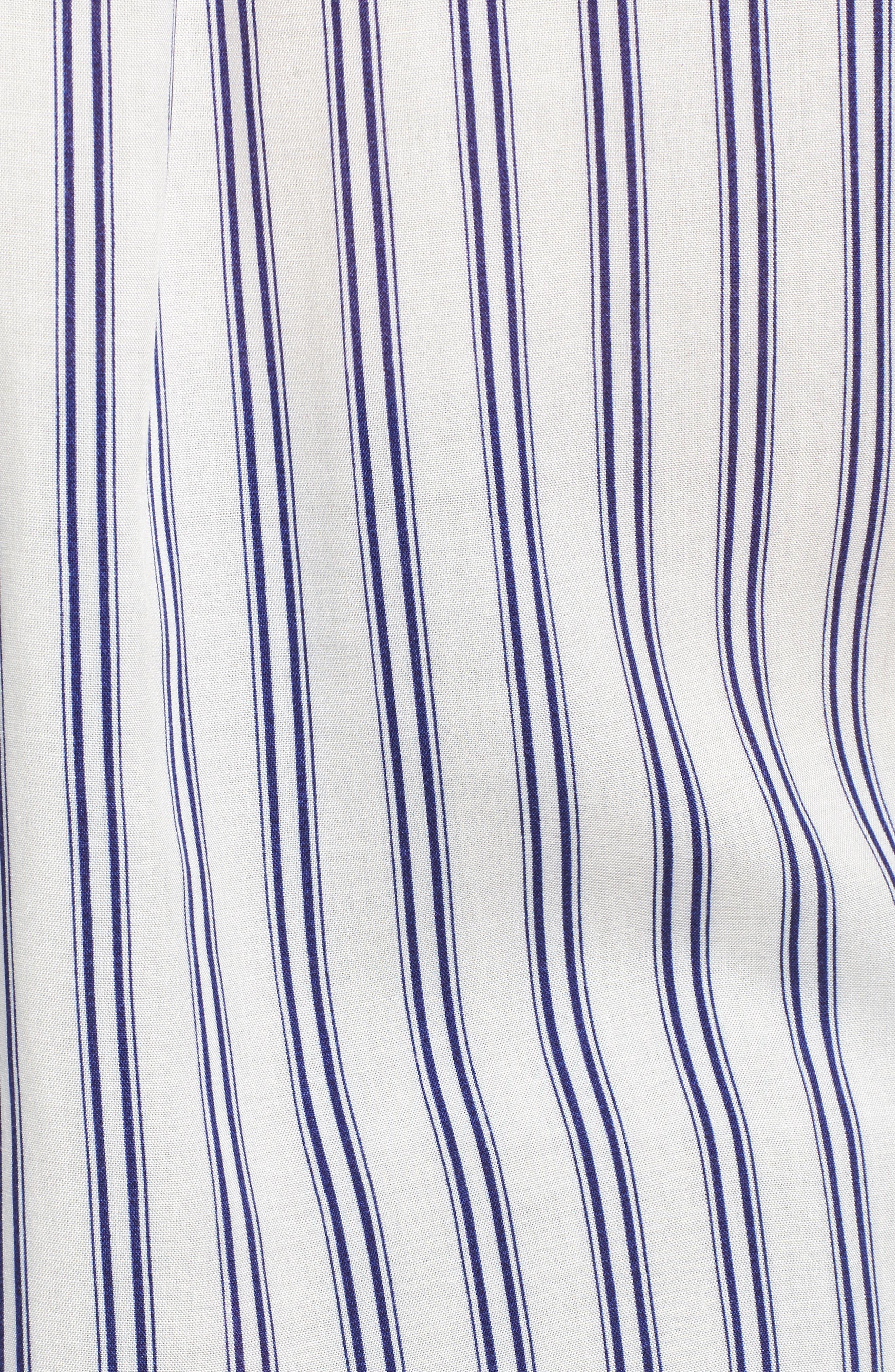 Stripe Tie Waist Blouse,                             Alternate thumbnail 5, color,                             100