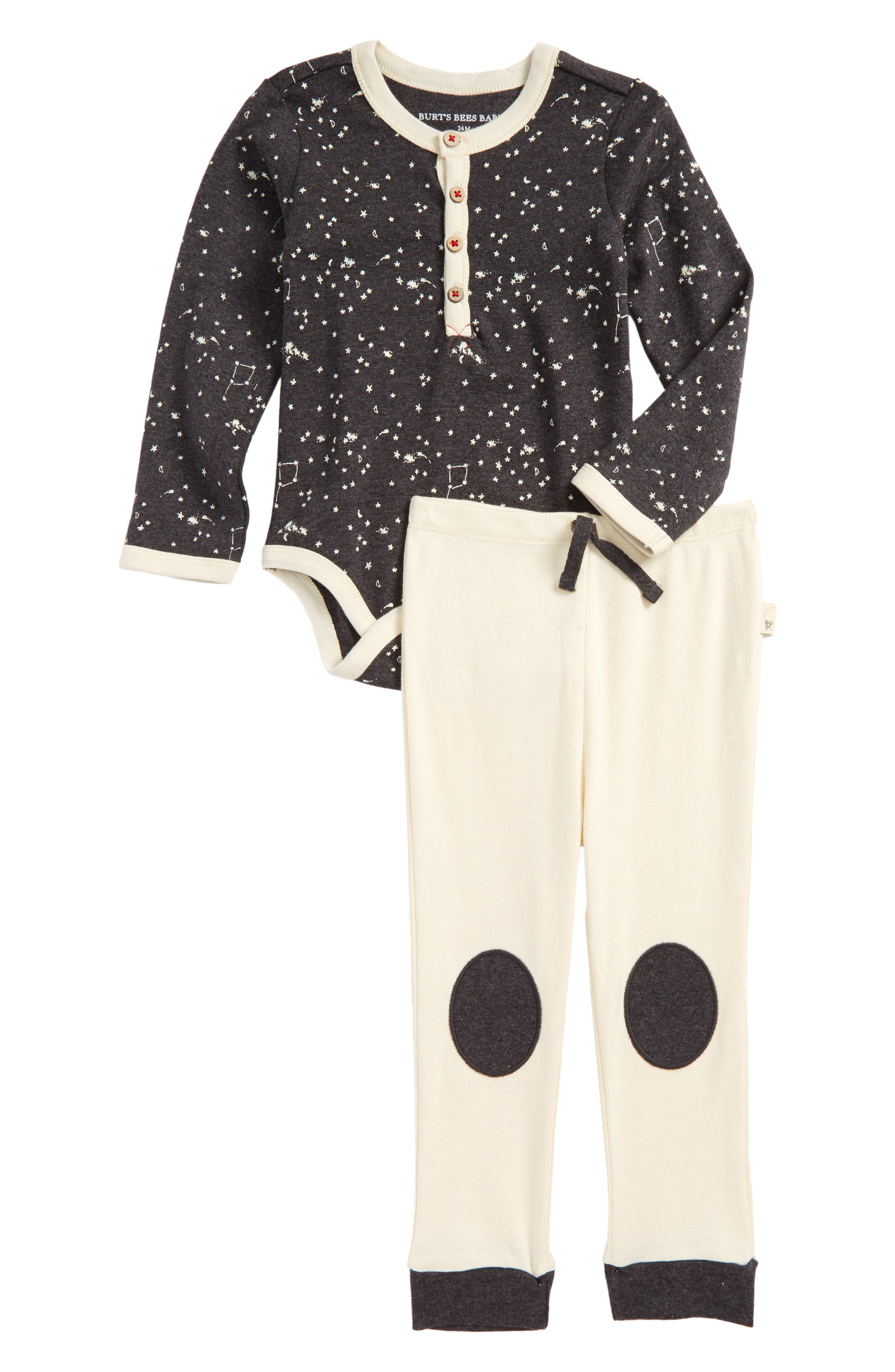 Burt's Bees Organic Cotton Bodysuit & Pants Set,                             Main thumbnail 1, color,                             024
