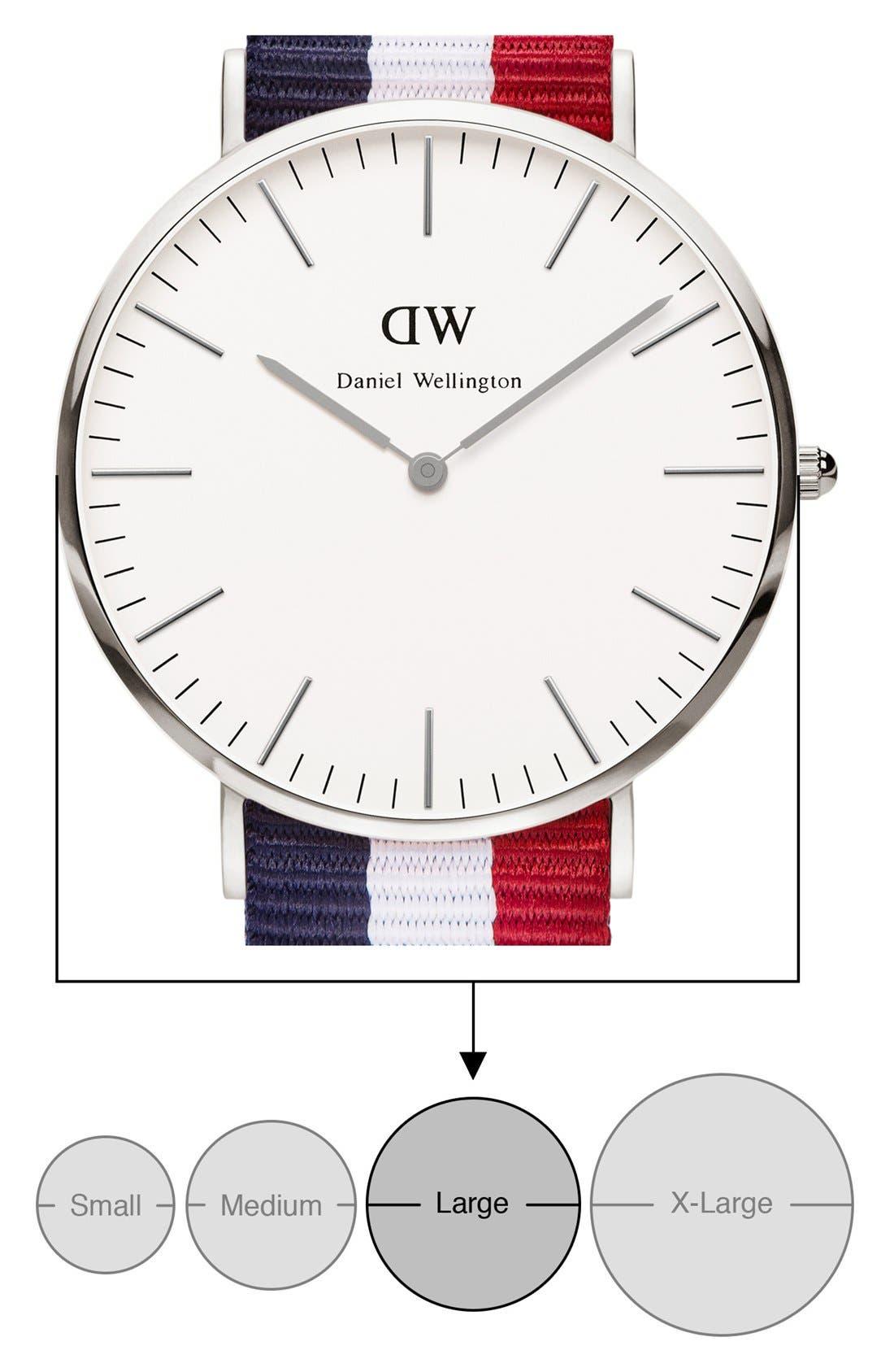 'Classic Cambridge' NATO Strap Watch, 40mm,                             Alternate thumbnail 5, color,                             100