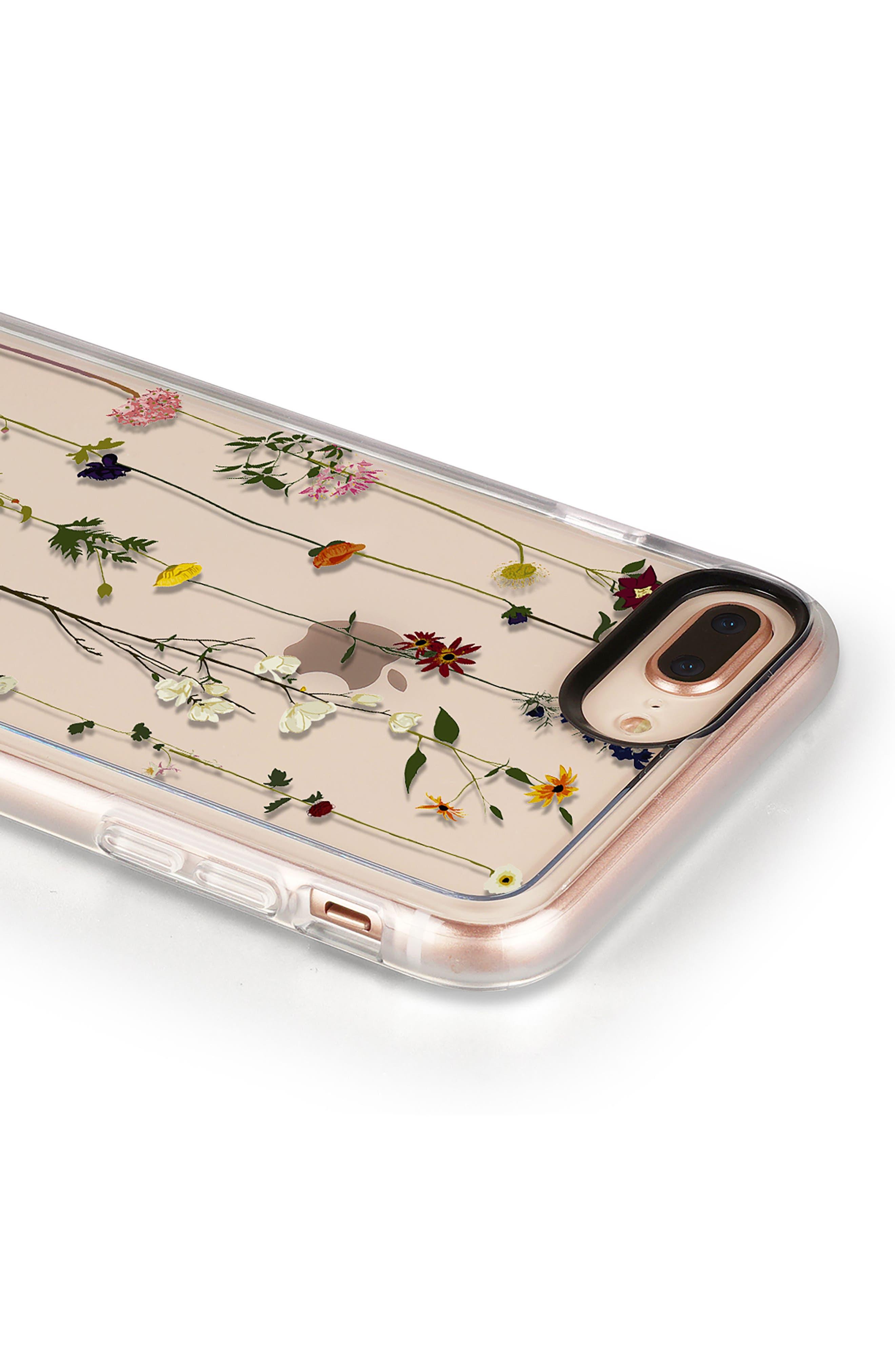 Floral Grip iPhone 7/8 & 7/8 Plus Case,                             Alternate thumbnail 5, color,                             CLEAR MULTI