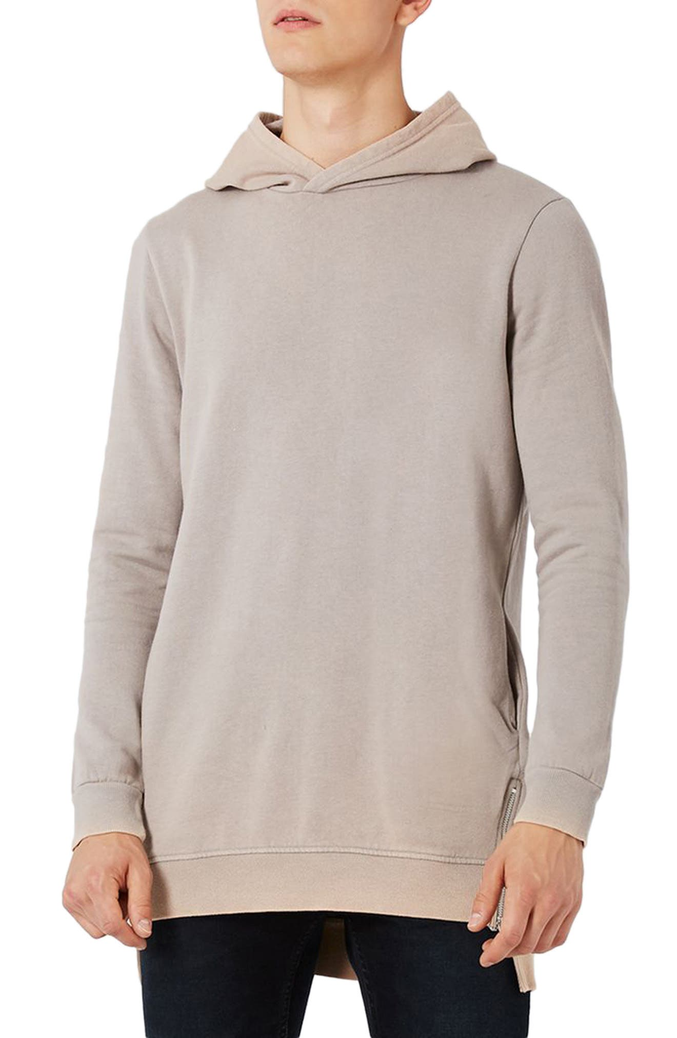 Pedro Side Zip Longline Hoodie,                         Main,                         color, 050