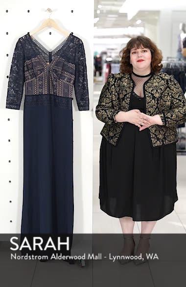 Lace & Crepe A-Line Gown, sales video thumbnail