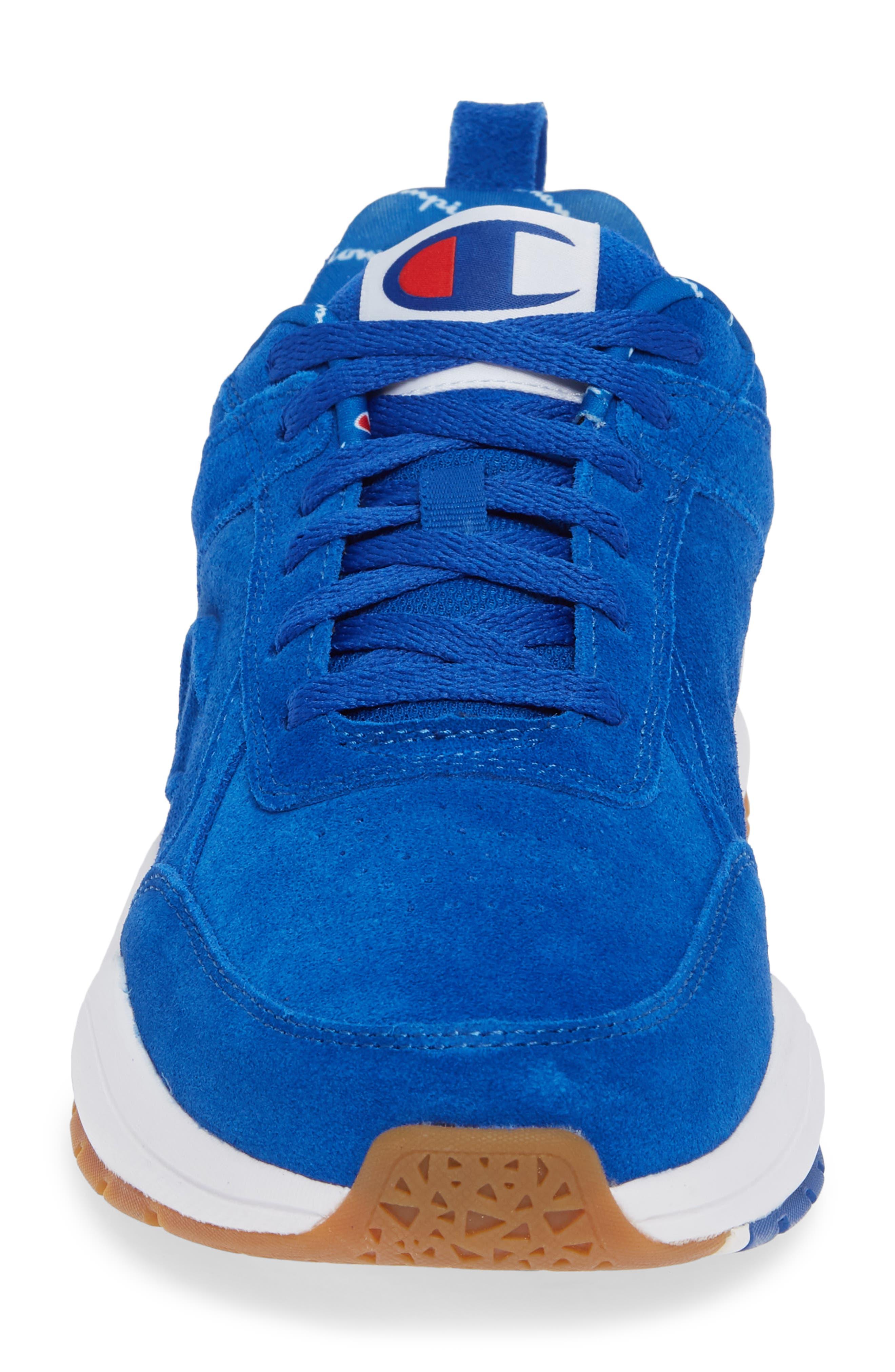 93Eighteen Sneaker,                             Alternate thumbnail 4, color,                             BLUE SUEDE