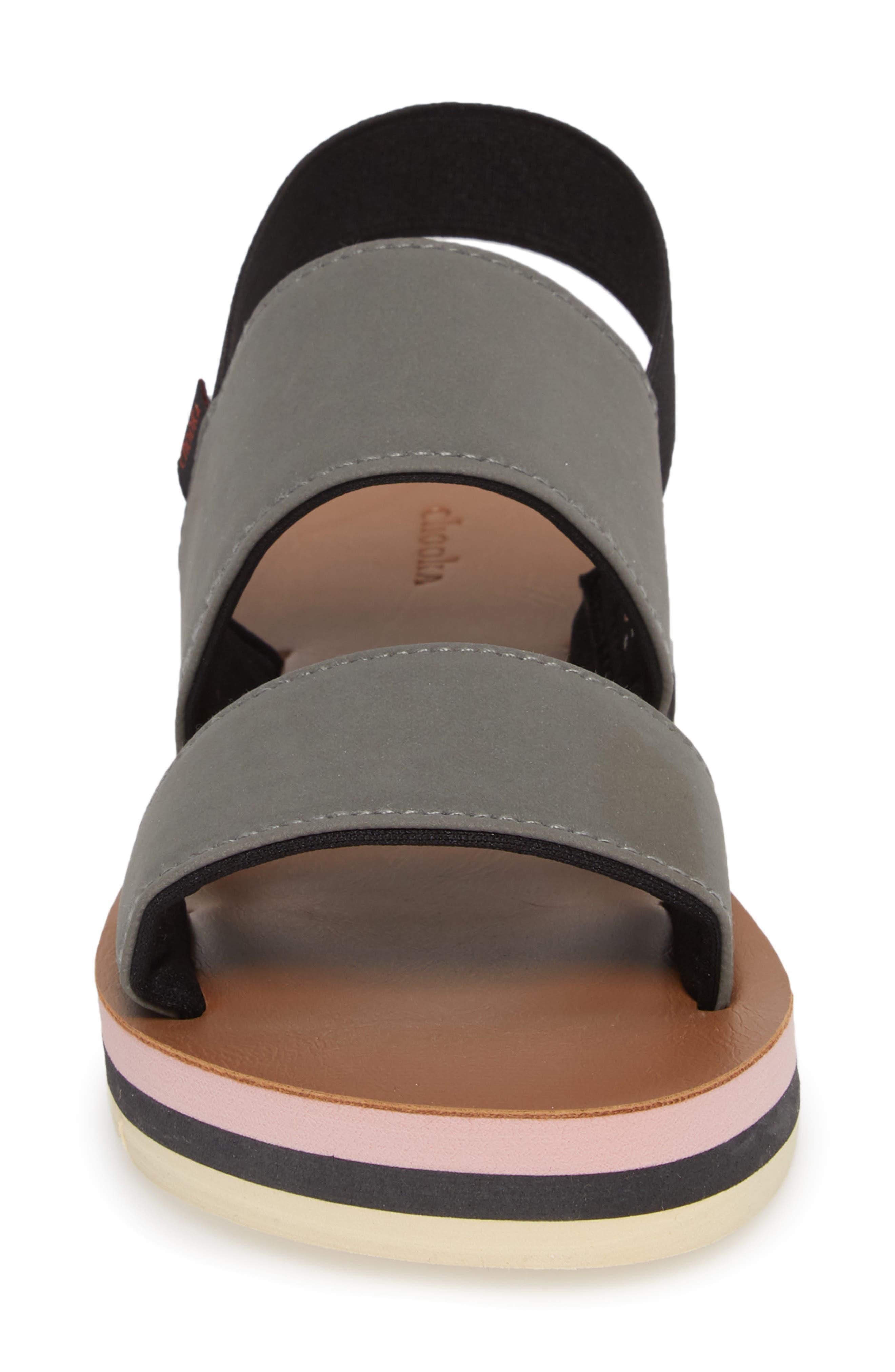 Flatform Sandal,                             Alternate thumbnail 4, color,                             GREY