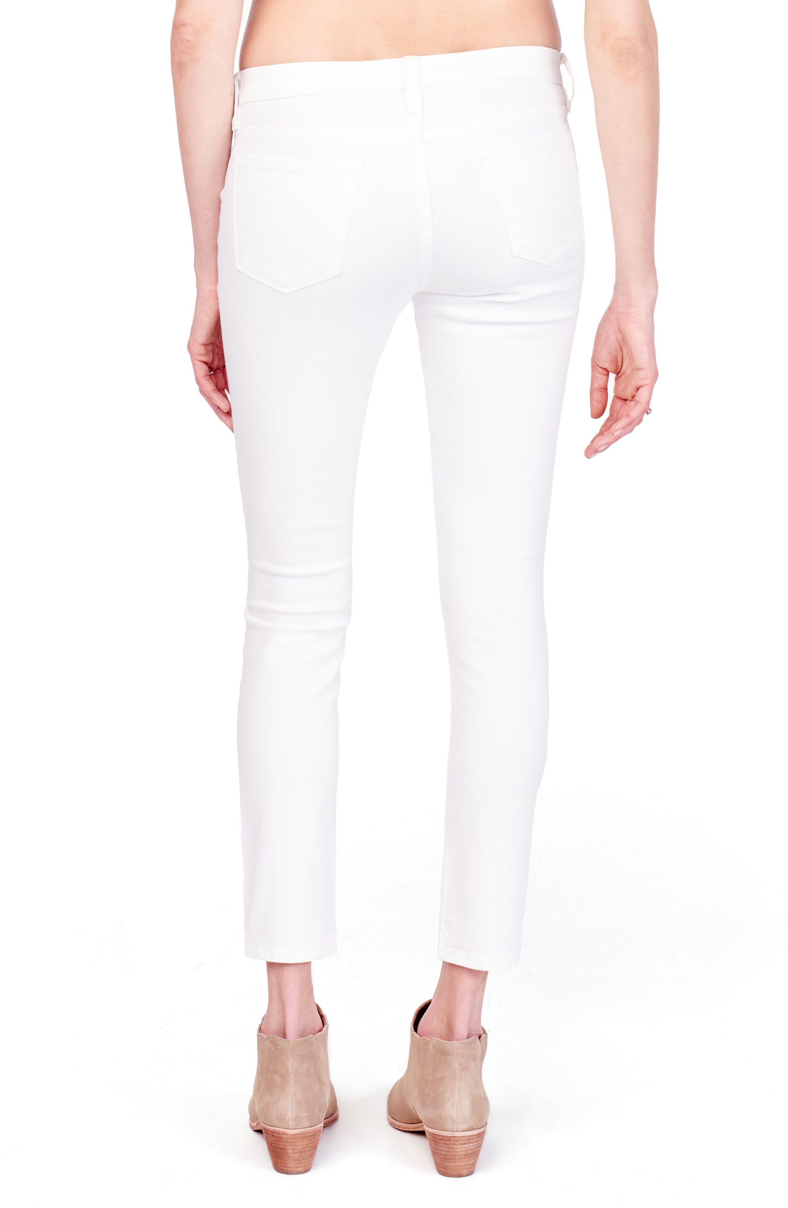 Sasha Maternity Skinny Jeans,                             Alternate thumbnail 2, color,                             WHITE