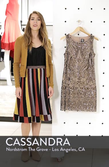 Sequin Embellished Sheath Dress, sales video thumbnail