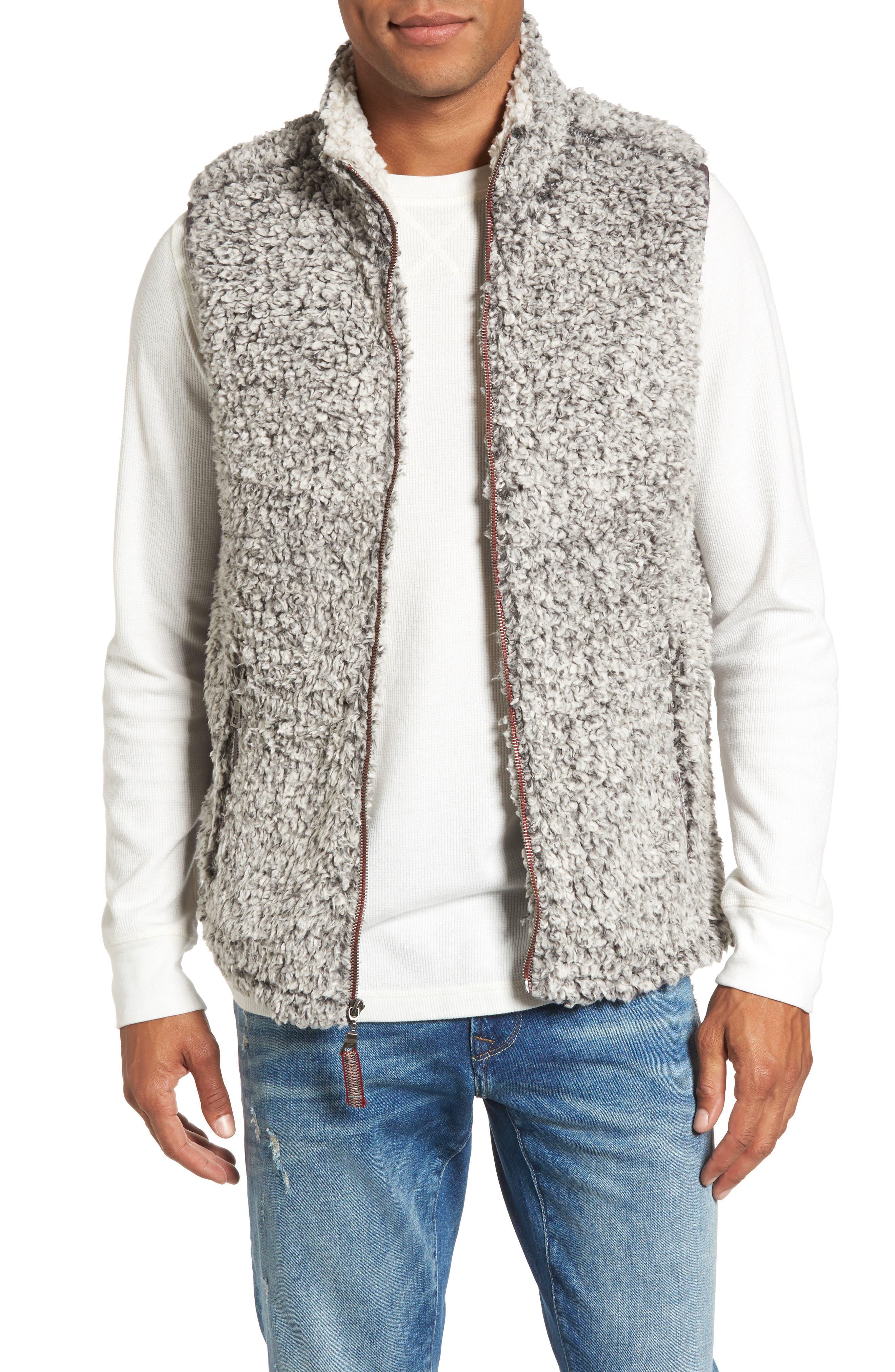 Double Up Frosty Tipped Faux Fur Vest,                             Main thumbnail 1, color,                             020