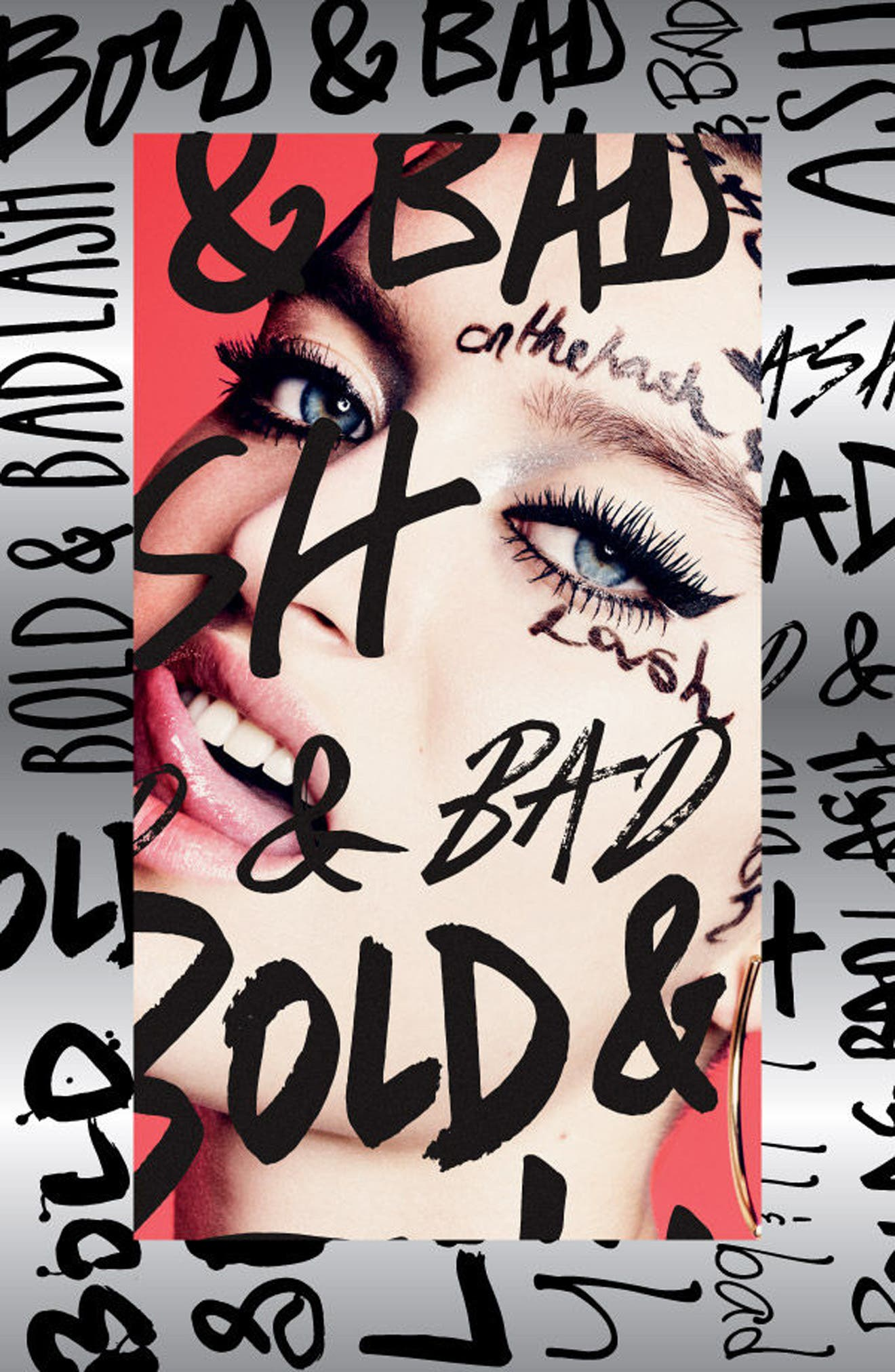 MAC Bold & Bad Lash Mascara,                             Alternate thumbnail 3, color,                             BOLD BAD BLACK