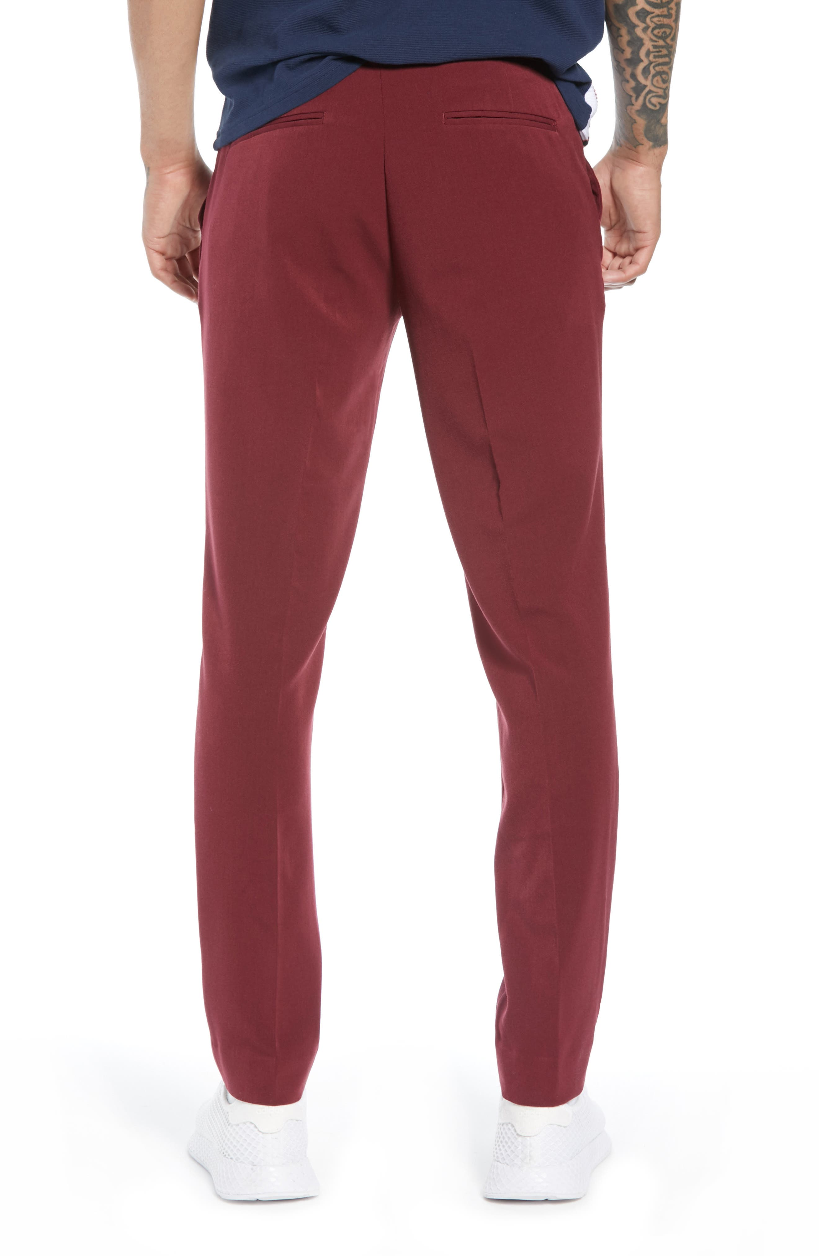 Skinny Fit Trousers,                             Alternate thumbnail 2, color,                             PURPLE