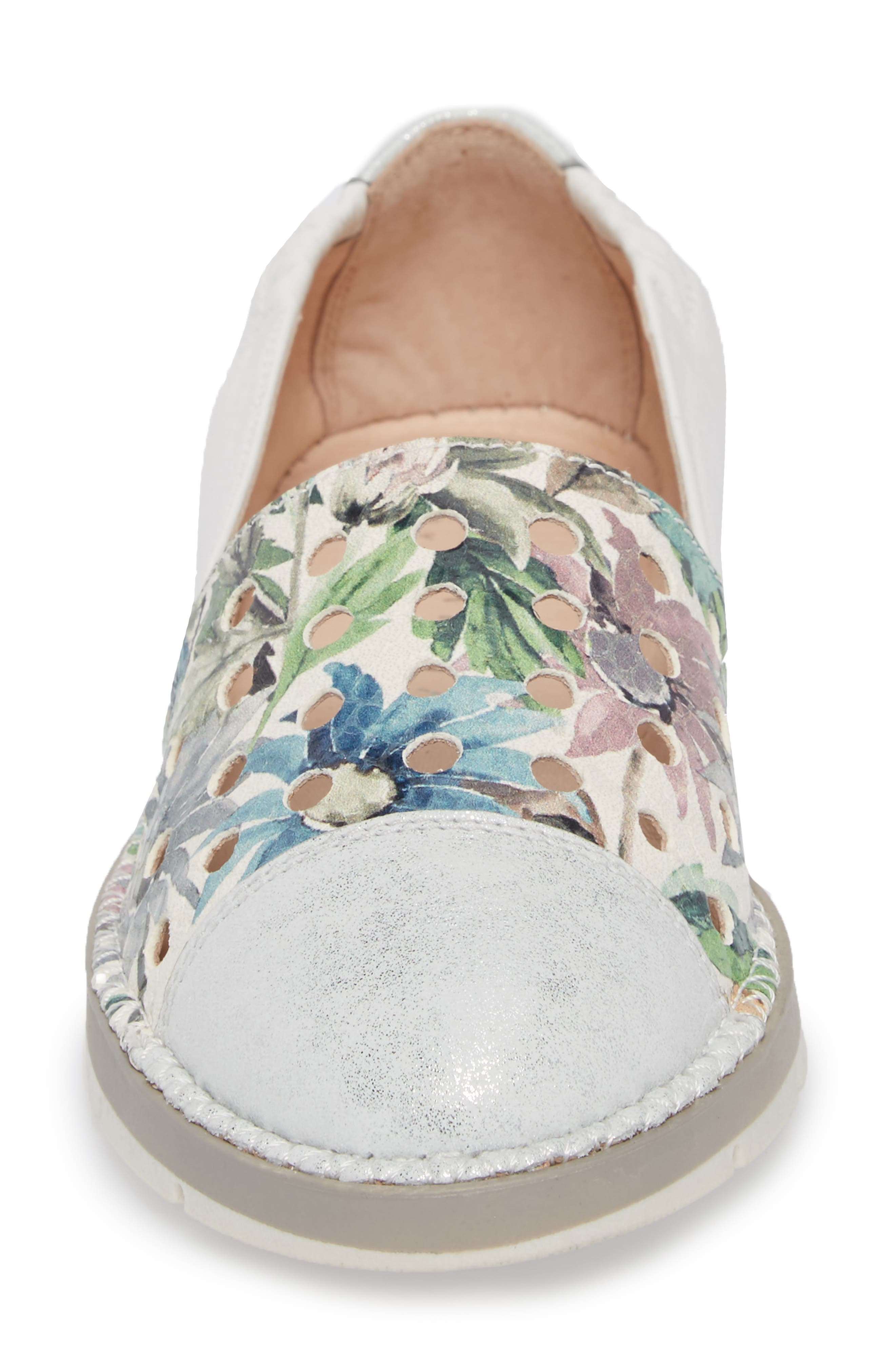 Maiko Flat,                             Alternate thumbnail 4, color,                             STAR SILVER/ BLOSSOM LEATHER