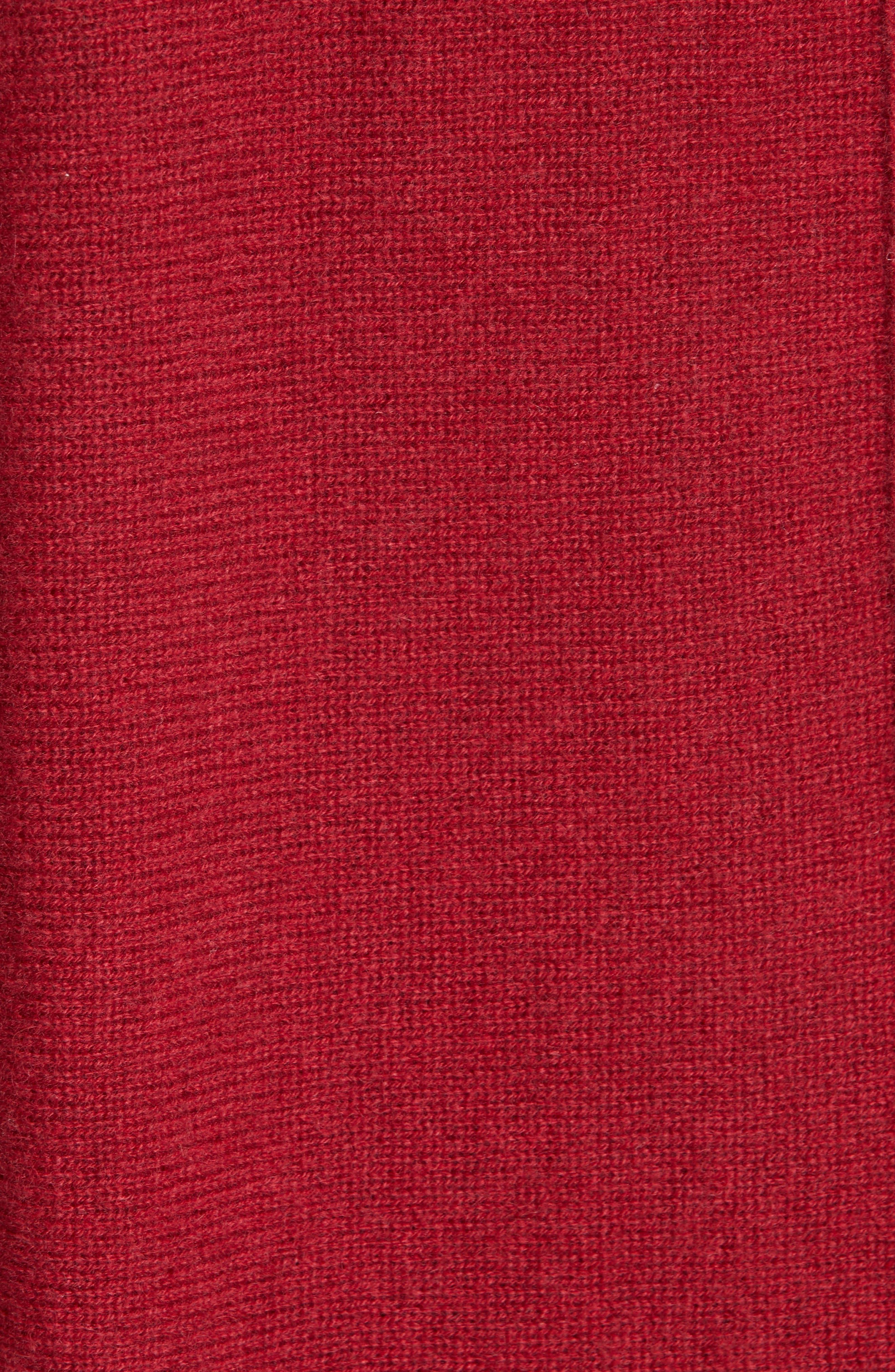 BROCHU WALKER,                             Clea Cashmere Wrap Sweater,                             Alternate thumbnail 5, color,                             TANGIER