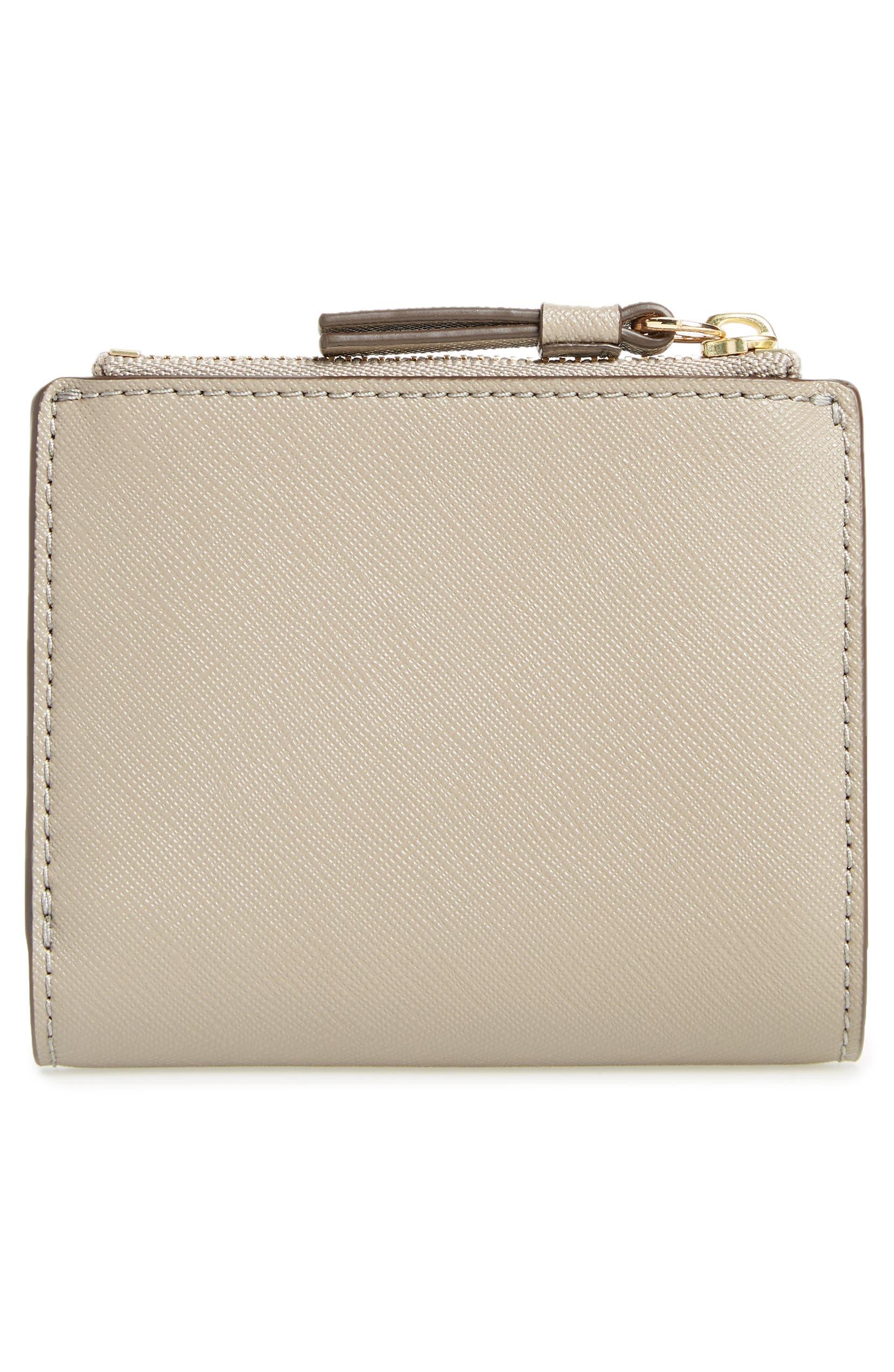 b78e5654a006 Tory Burch Mini Robinson Wallet Leather Bifold Wallet