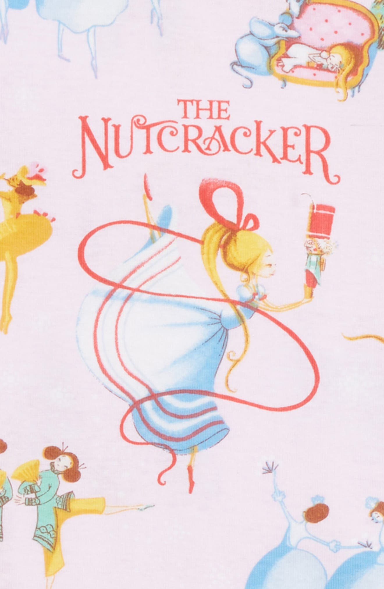 The Nutcracker Fitted Two-Piece Pajamas & Book Set,                             Alternate thumbnail 2, color,                             680