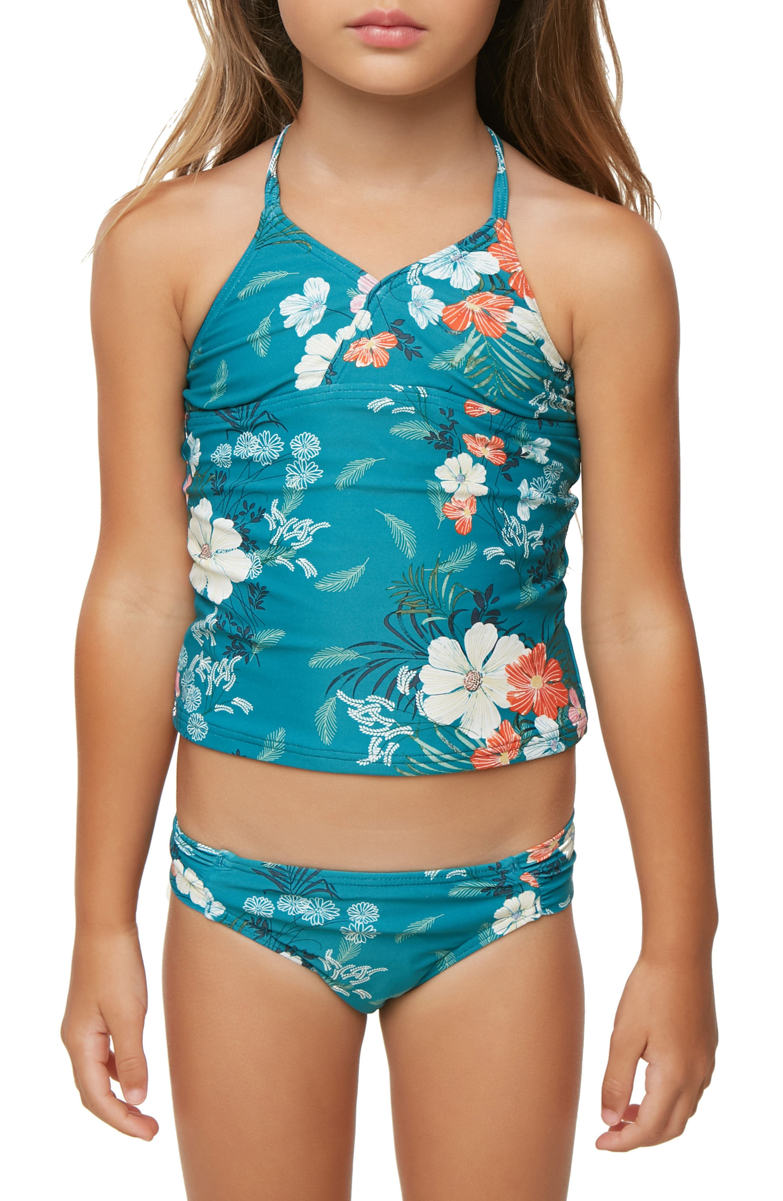 Lucy Floral Two-Piece Swimsuit,                             Alternate thumbnail 2, color,                             441