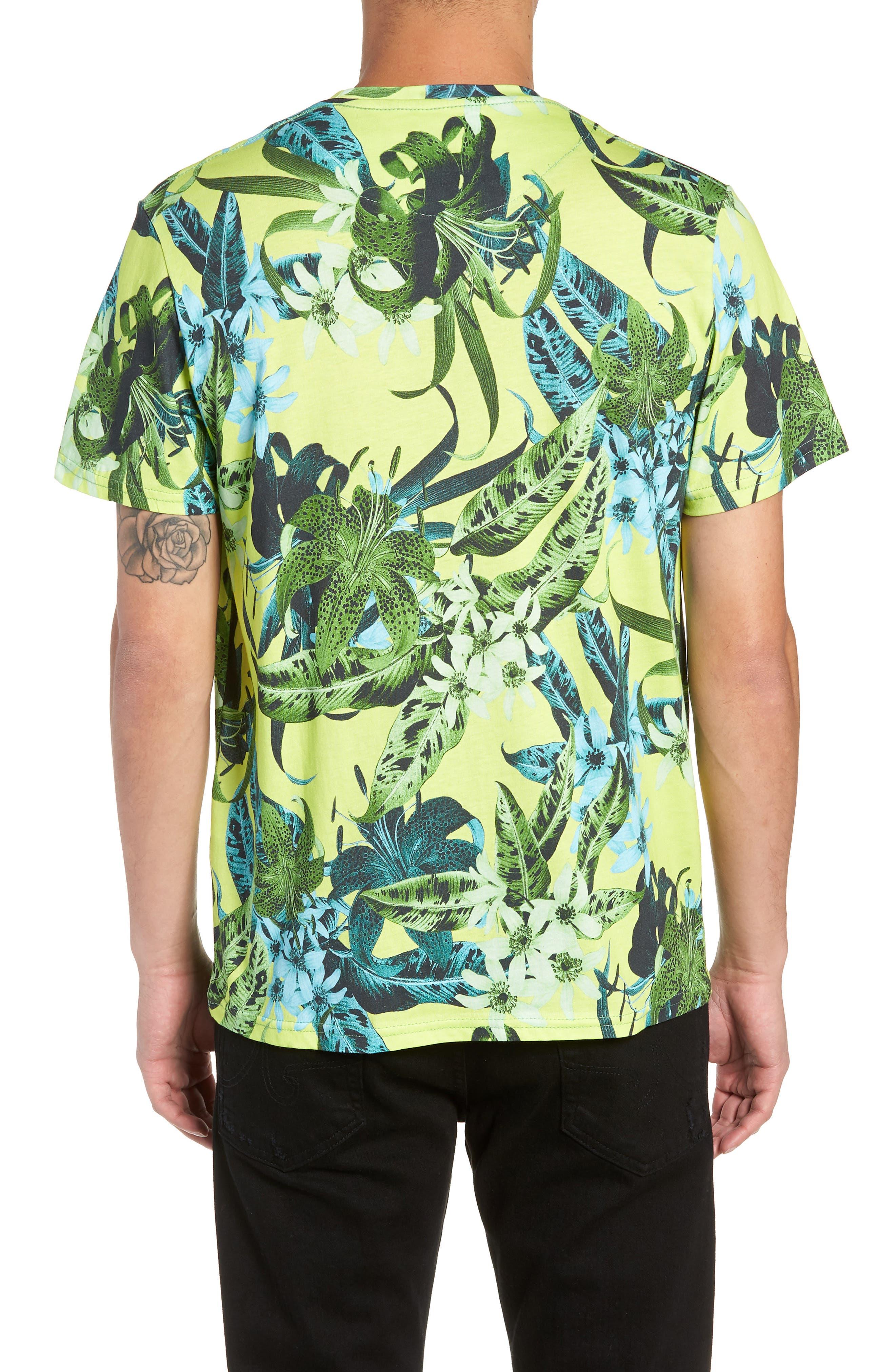 Classic Floral Shirt,                             Alternate thumbnail 2, color,                             GREEN
