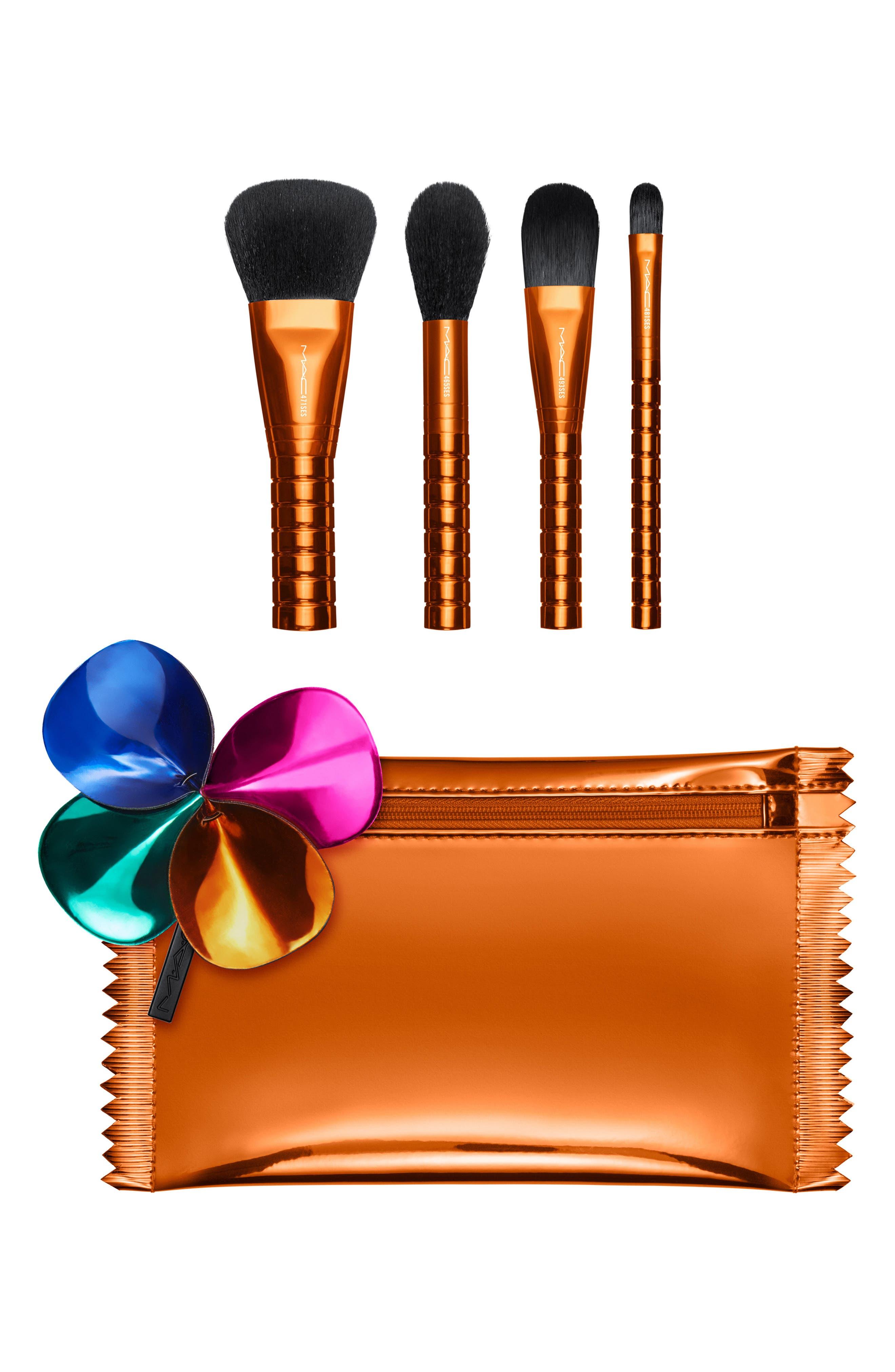 MAC Shiny Pretty Things Face Brush Kit,                             Main thumbnail 1, color,                             NO COLOR