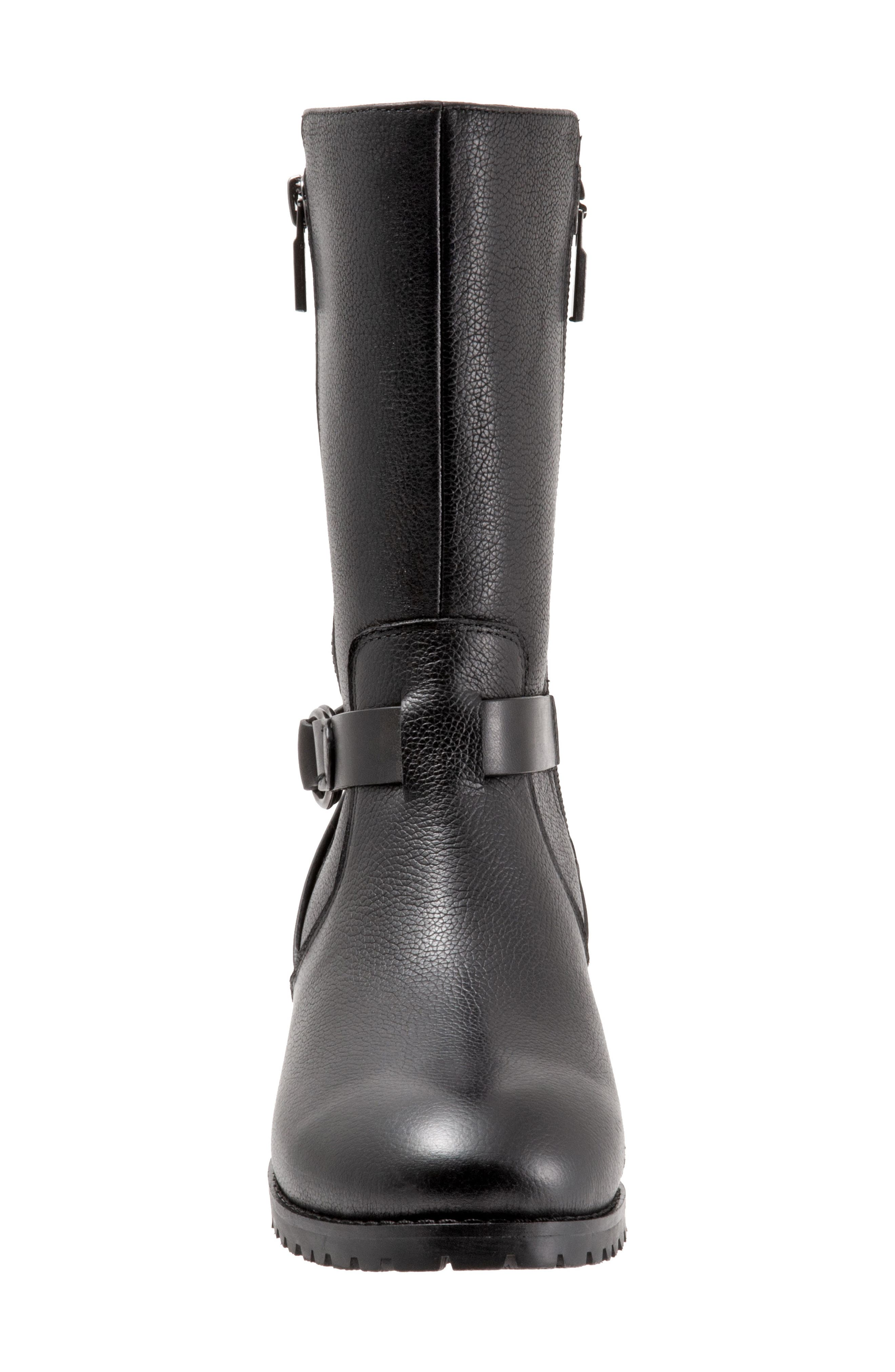 Marlowe Boot,                             Alternate thumbnail 4, color,                             BLACK LEATHER