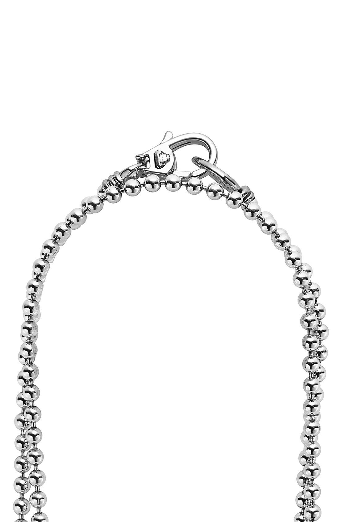 LAGOS,                             'Caviar Icon' Strand Necklace,                             Alternate thumbnail 4, color,                             SILVER