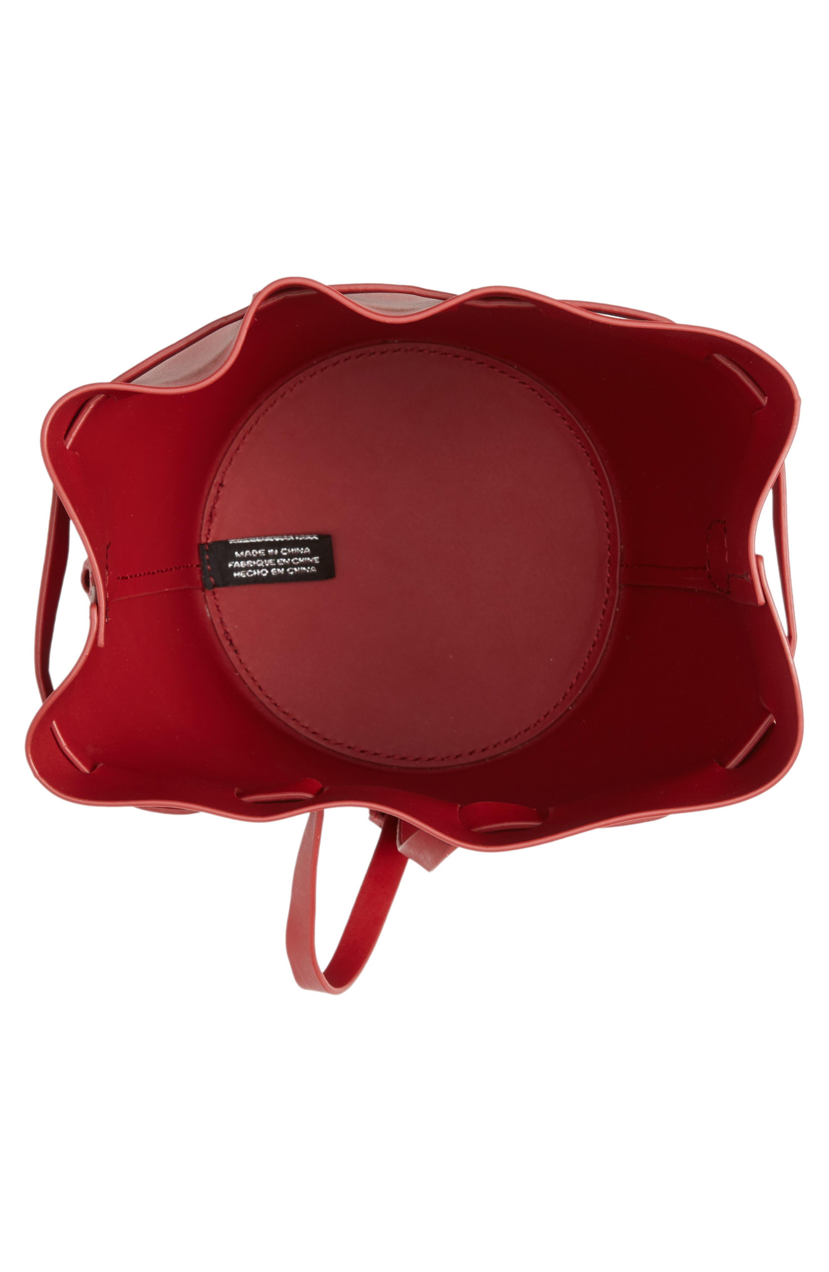 Mini Belay Calfskin Leather Drawstring Bag,                             Alternate thumbnail 12, color,