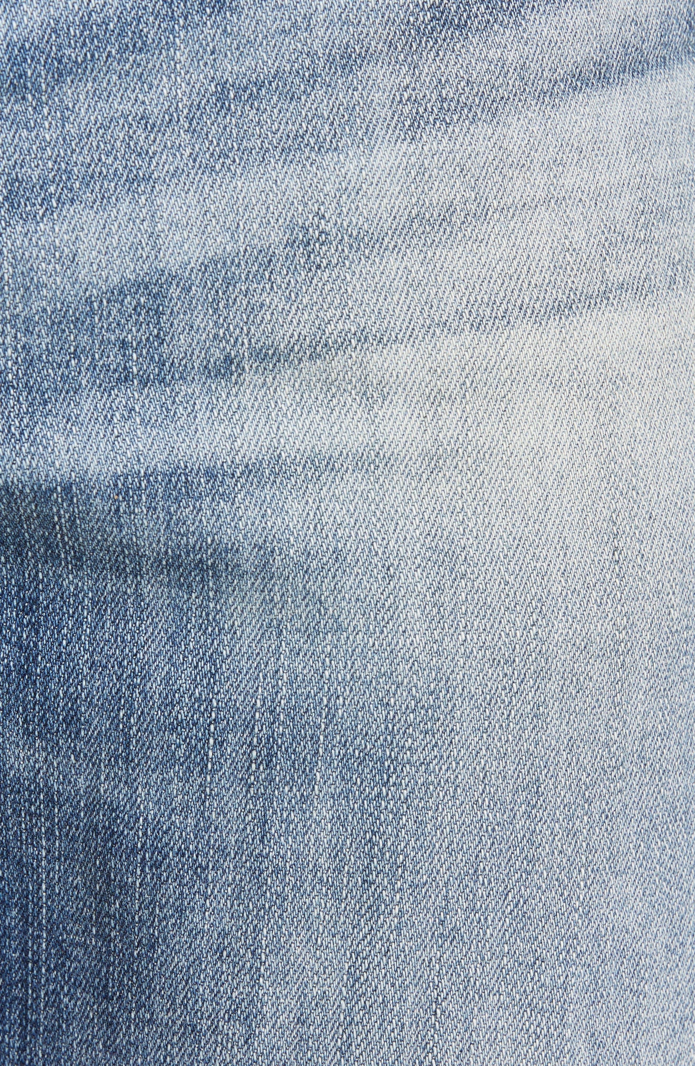 Everett Slim Straight Leg Jeans,                             Alternate thumbnail 5, color,                             21 YEARS SEIZE