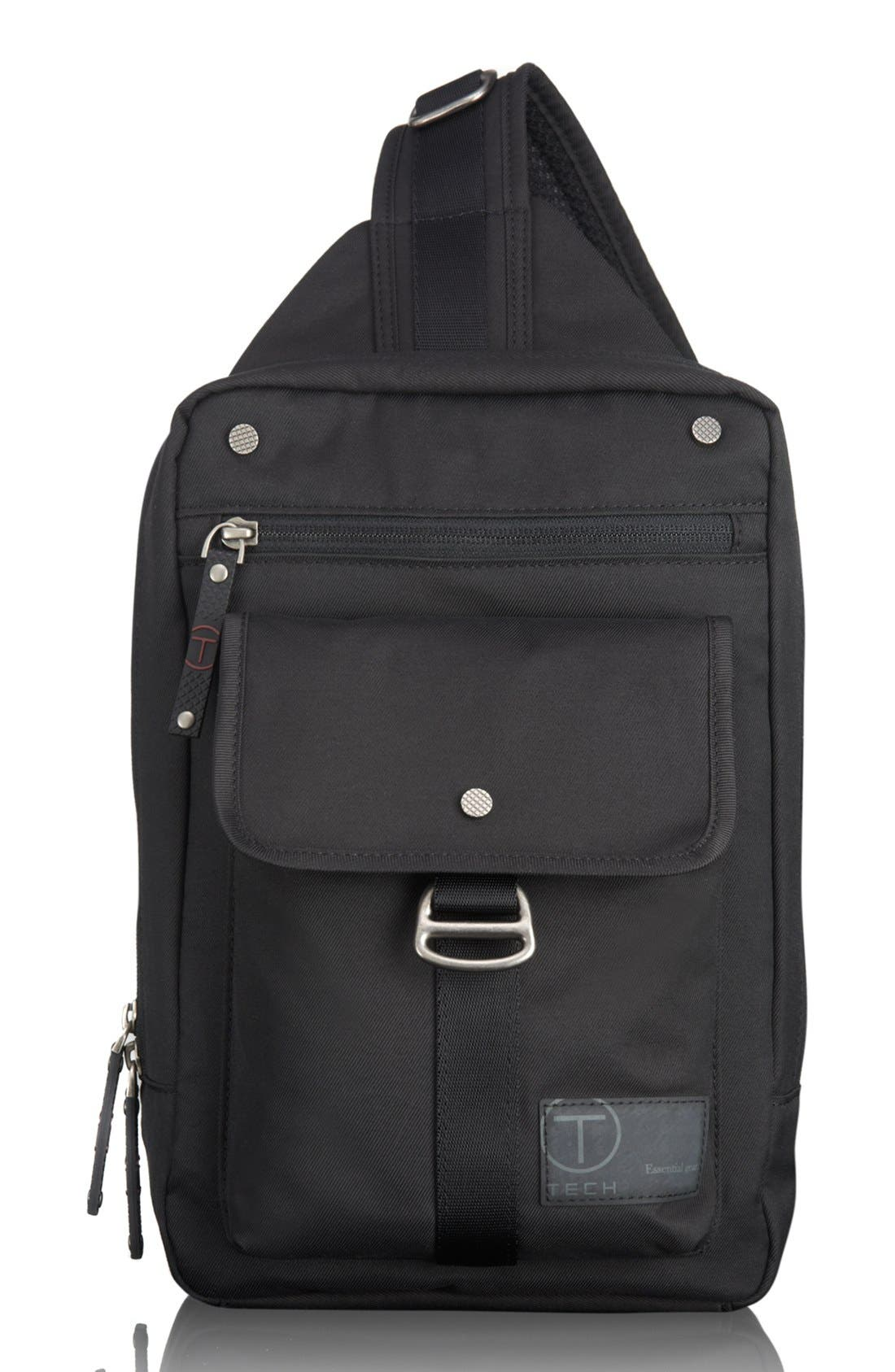 T-Tech by Tumi 'Icon - Newton' Sling Backpack, Main, color, 002