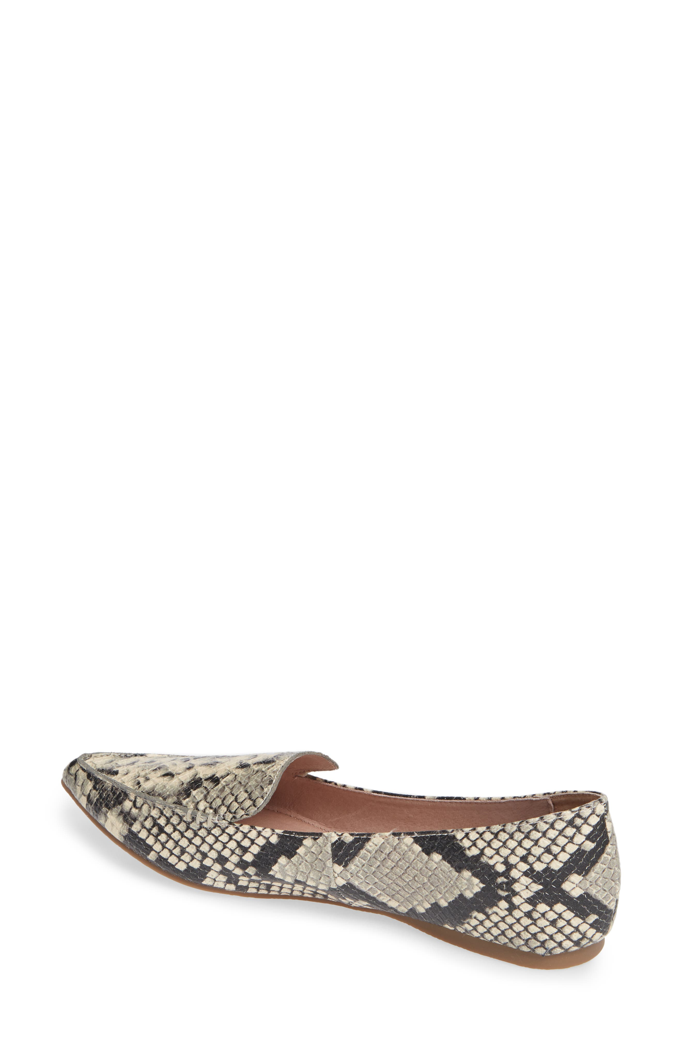 Feather Loafer Flat,                             Alternate thumbnail 2, color,                             SNAKE PRINT LEATHER
