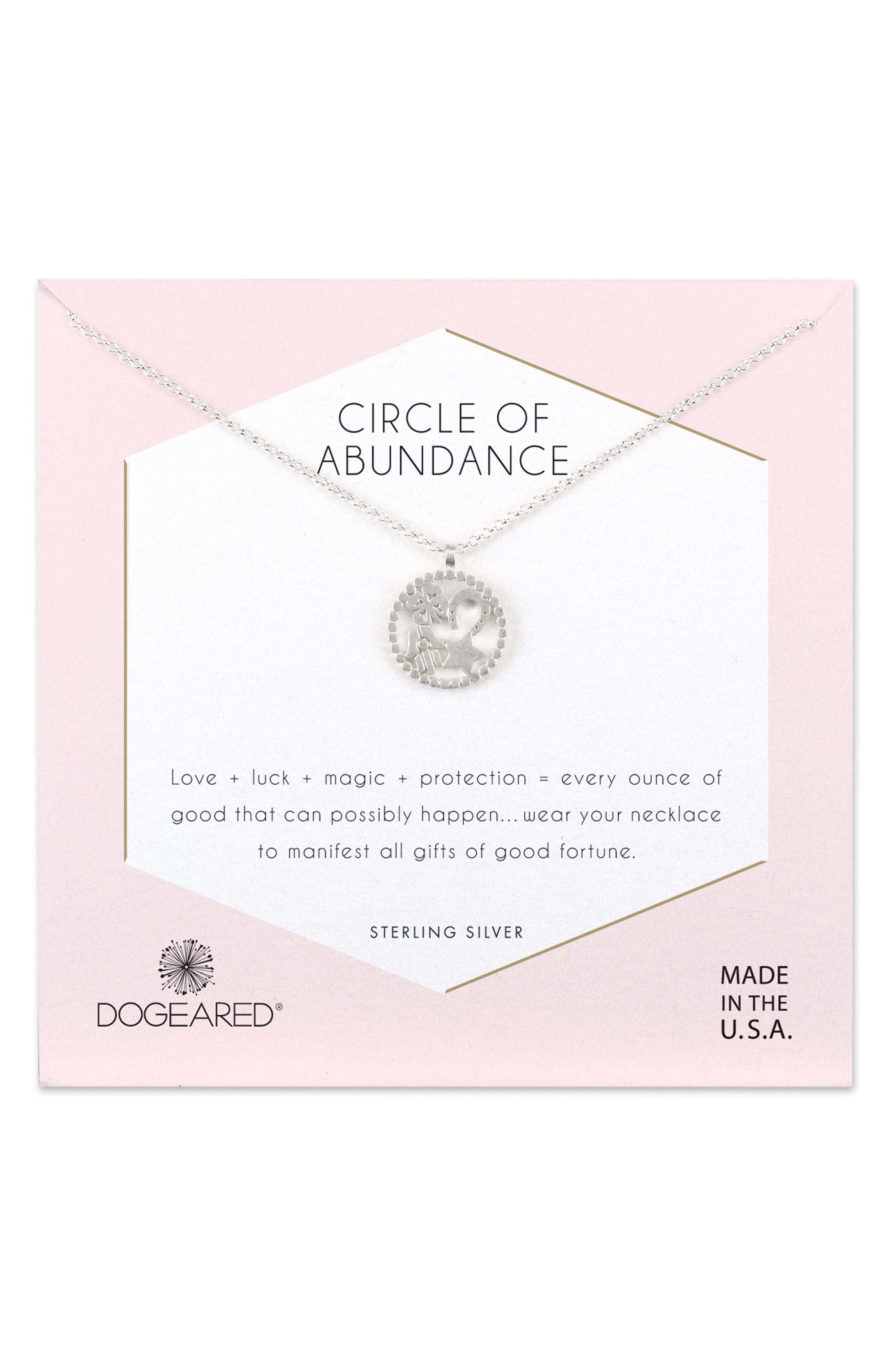 DOGEARED Circle Of Abundance Necklace in Neutrals
