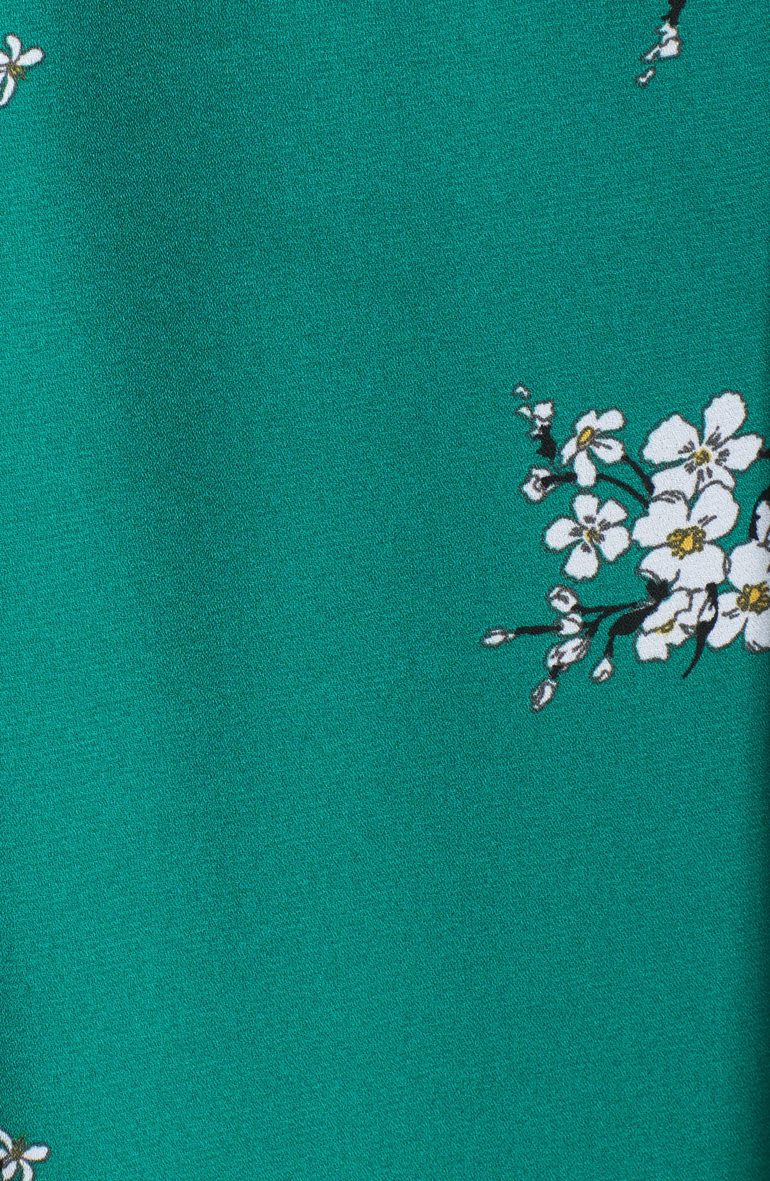 Floral Faux Wrap Dress,                             Alternate thumbnail 5, color,                             310