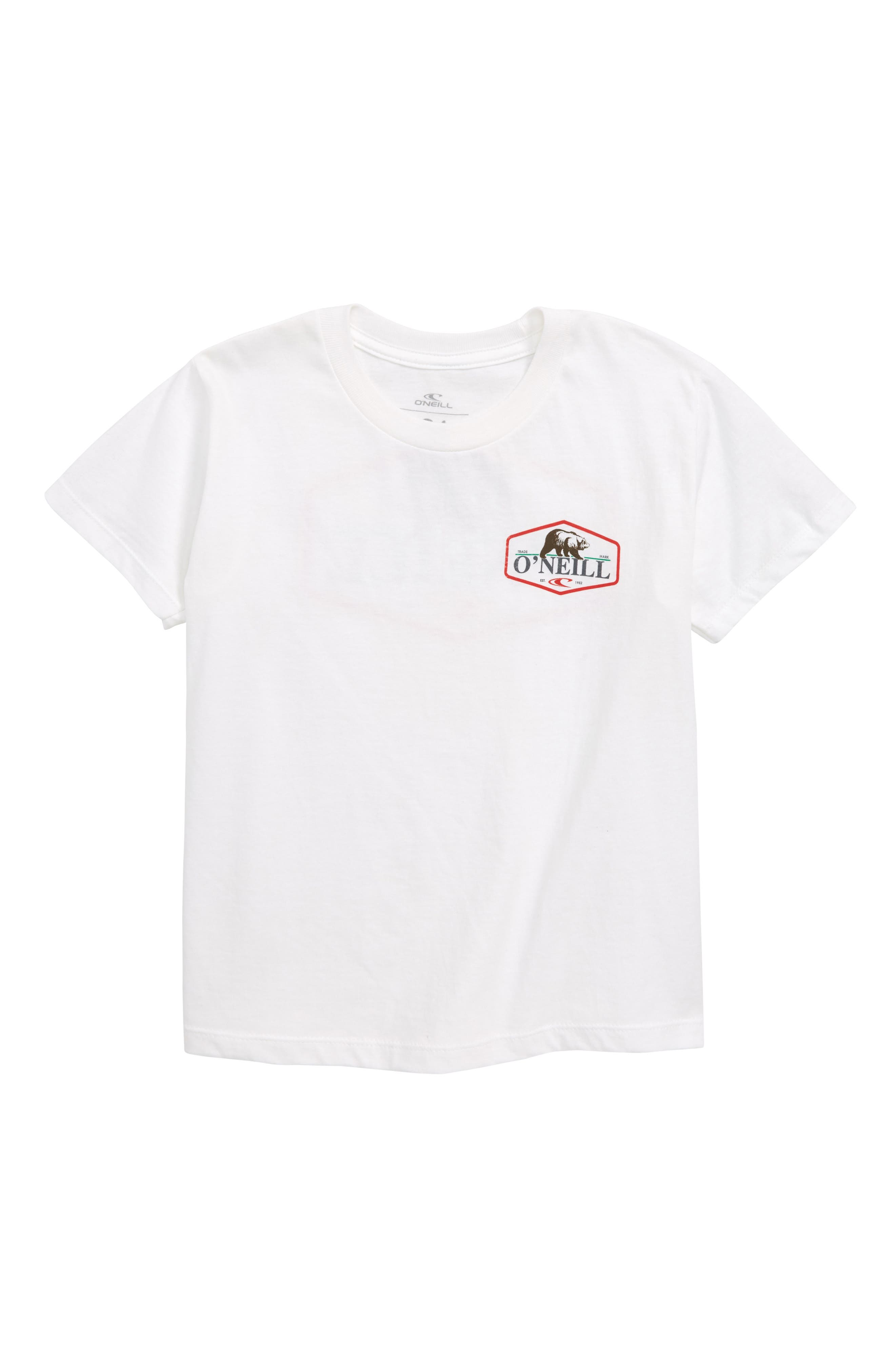 O'NEILL Bear T-Shirt, Main, color, 100