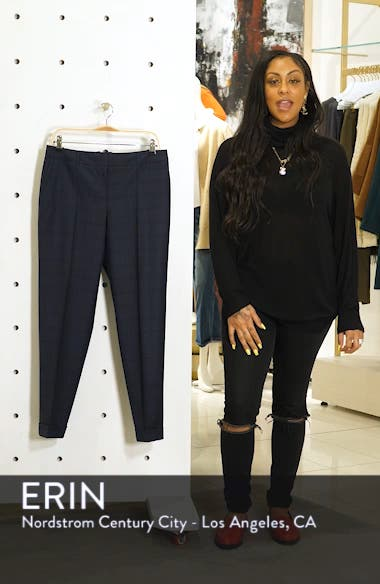 Tocanes Modern Check Wool Ankle Trousers, sales video thumbnail
